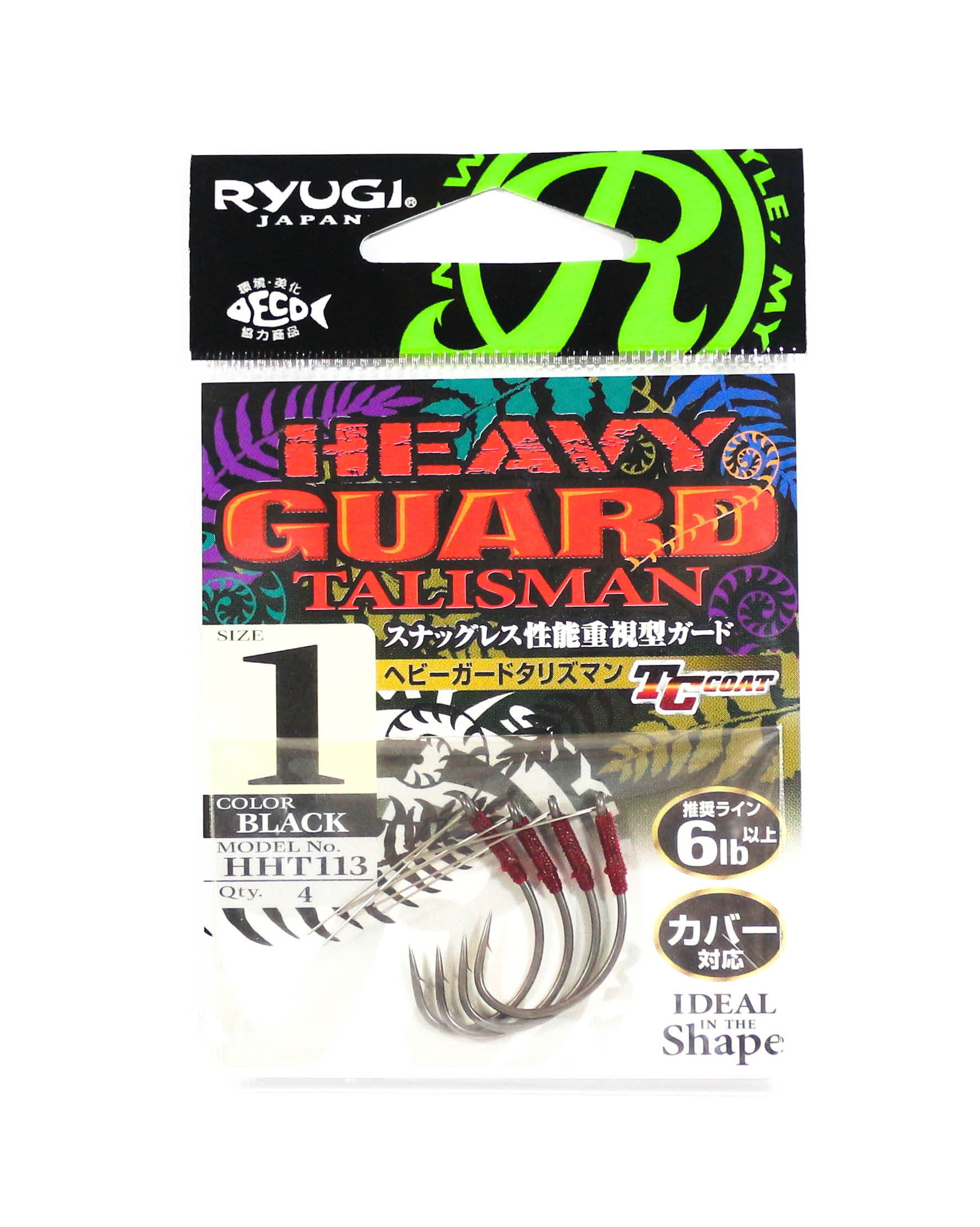 Ryugi HHT113 Heavy Guard Talisman Hook Size 1 (6449)
