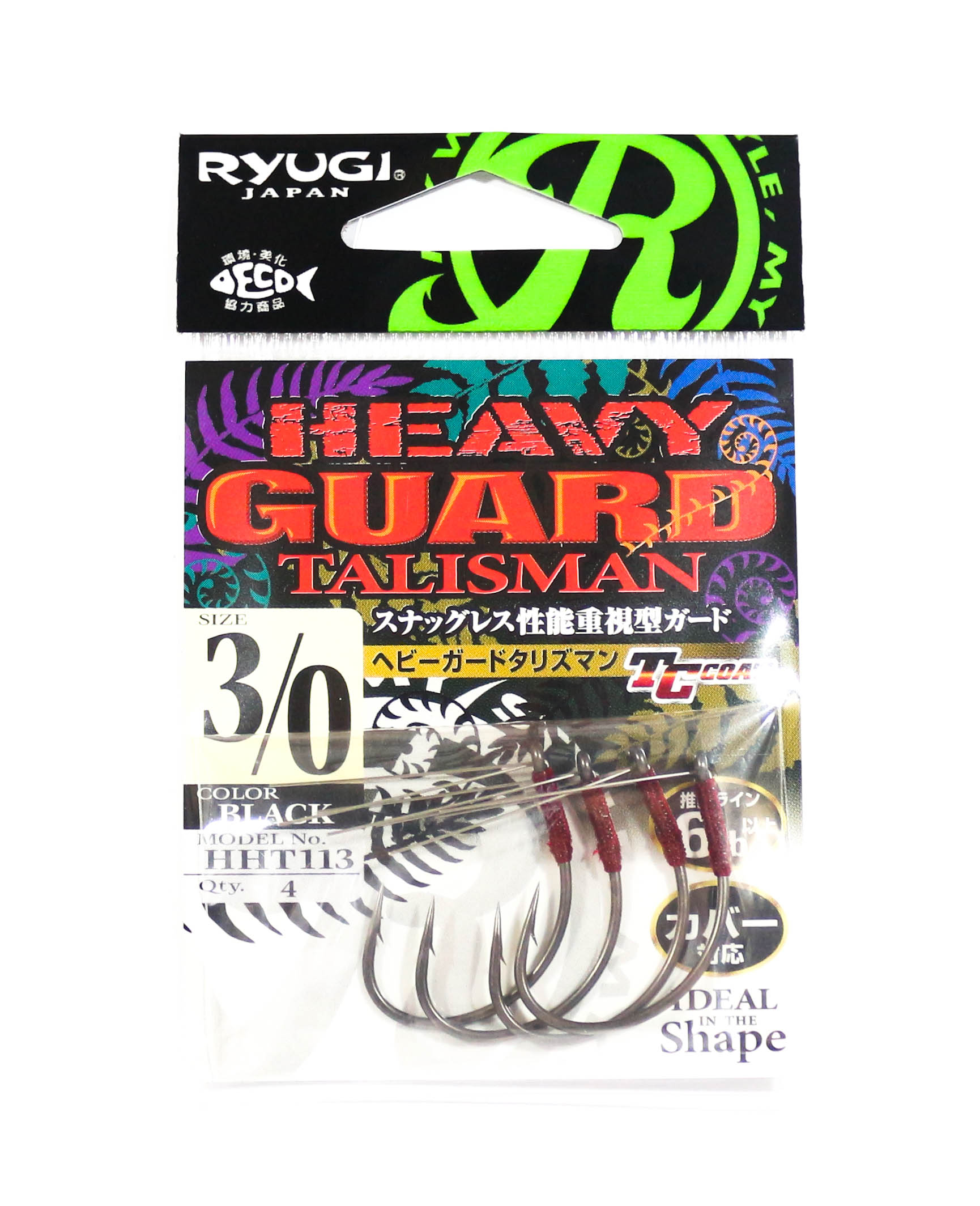 Ryugi HHT113 Heavy Guard Talisman Hook Size 3/0 (6470)