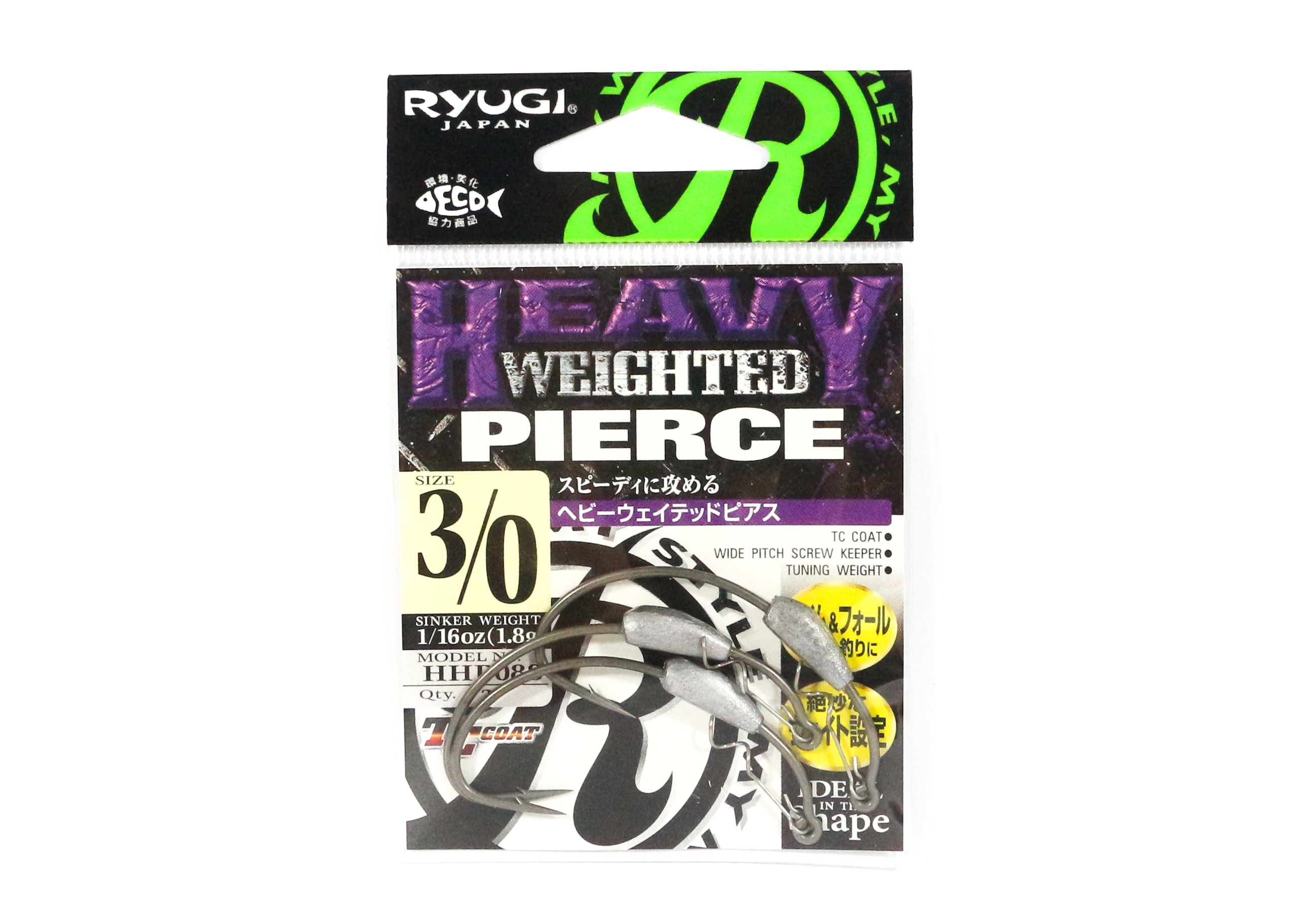 Ryugi HHP088 Heavy Weighted Pierce Hook Size 3/0 (4940)
