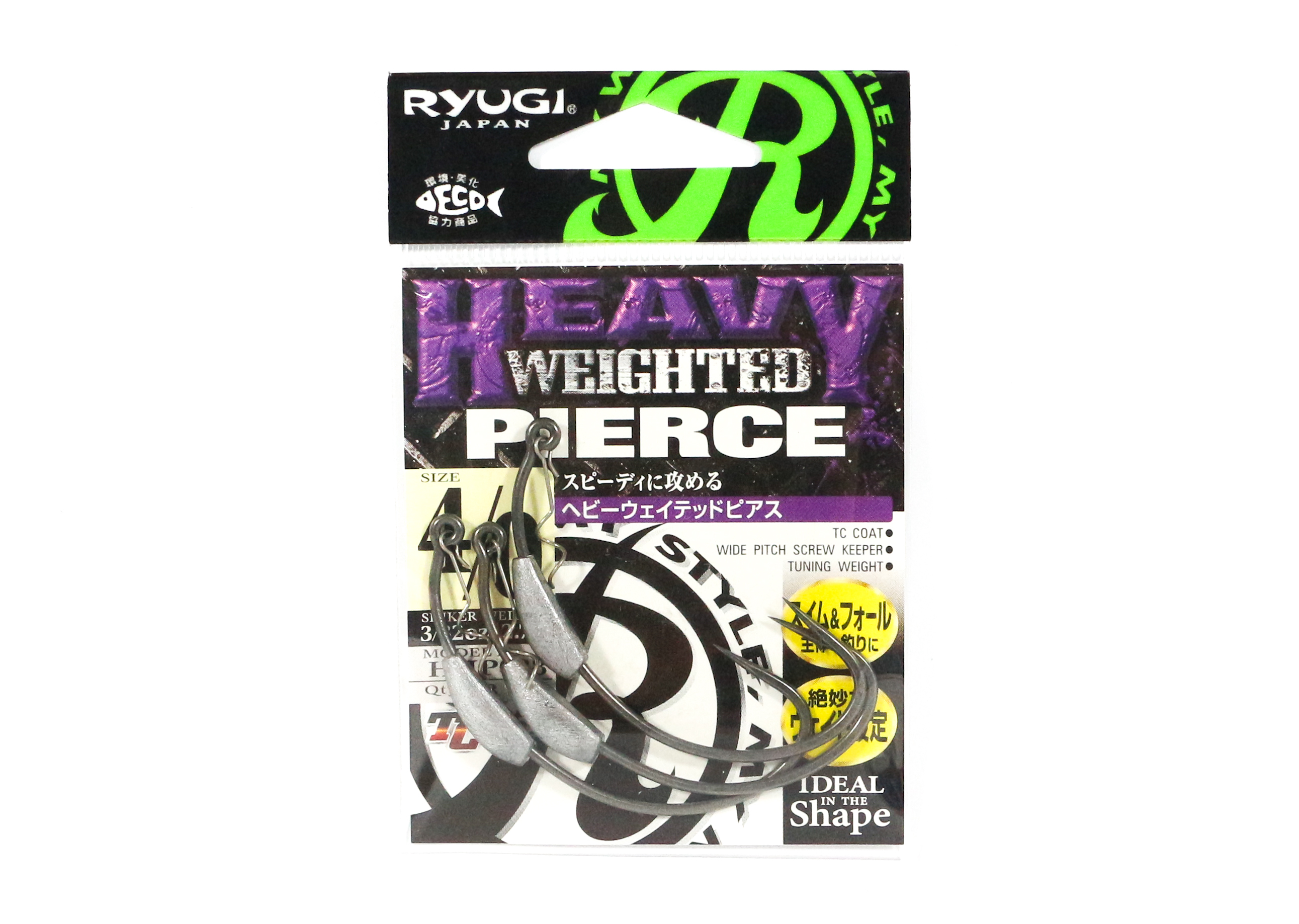 Ryugi HHP088 Heavy Weighted Pierce Hook Size 4/0 (4957)