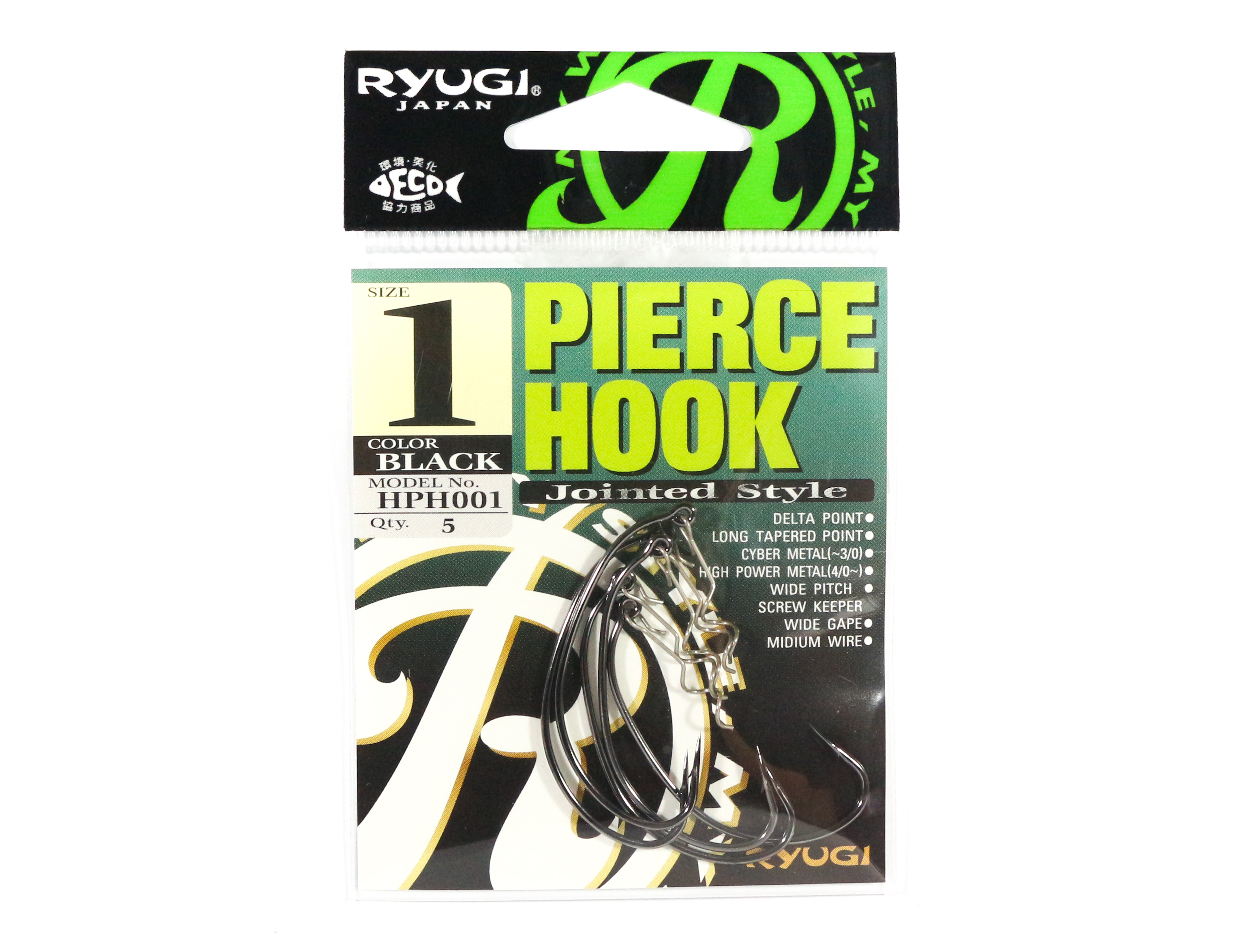 Ryugi HPH001 Pierce Hook Wide Gap Screw Keeper Size 1 (0560)