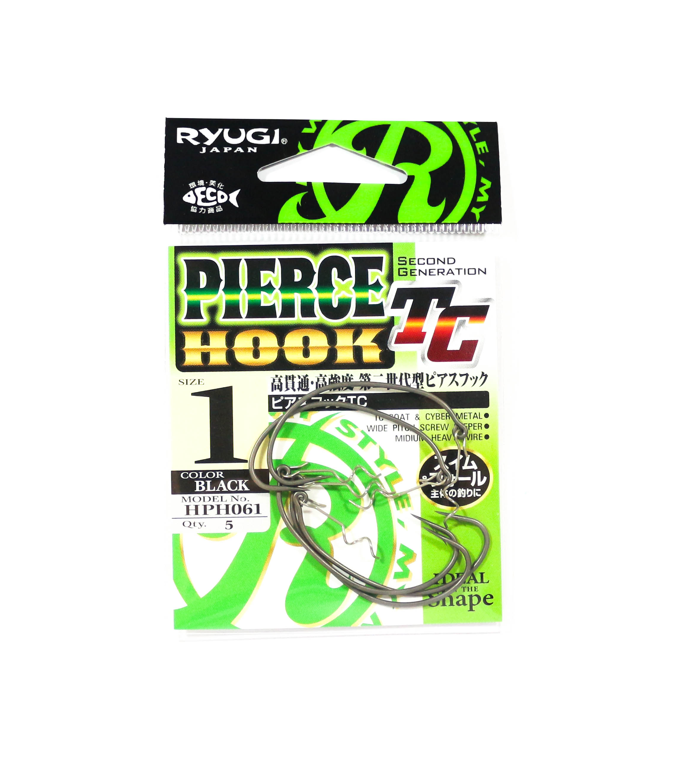 Ryugi HPH061 Pierce TC Hook Wide Gap Screw Keeper Size 1 (3325)