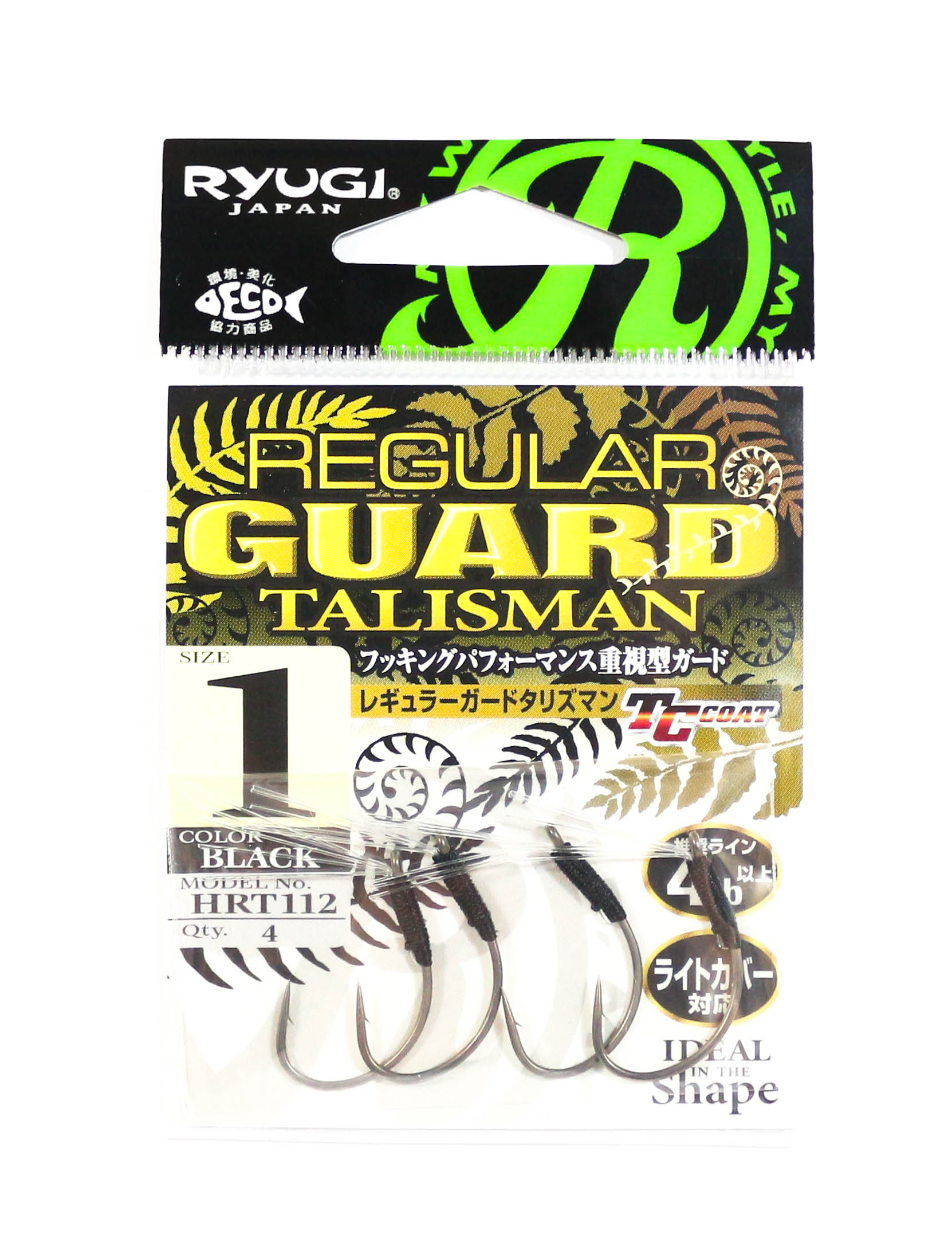 Ryugi HRT112 Regular Guard Talisman Hook Size 1 (6388)