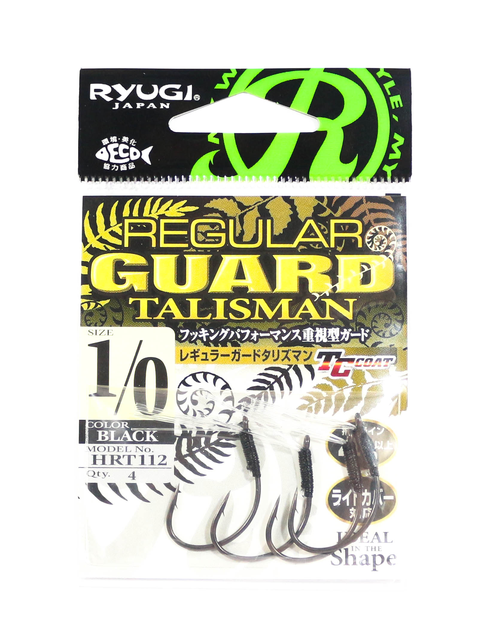 Ryugi HRT112 Regular Guard Talisman Hook Size 1/0 (6395)