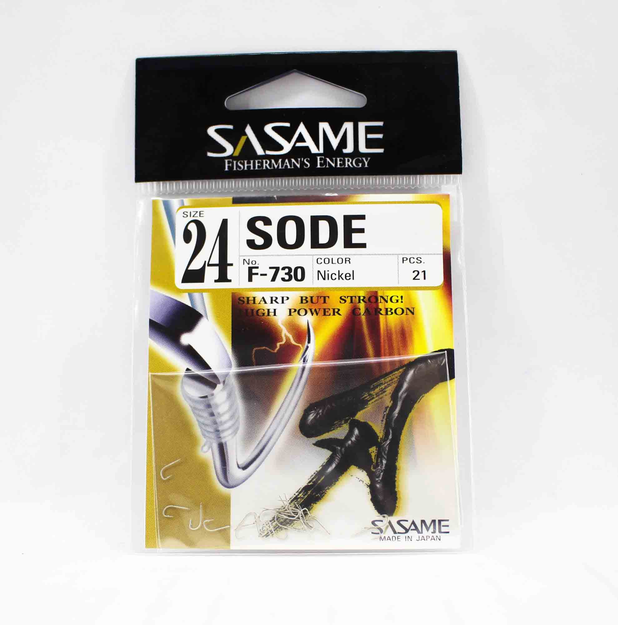 Sasame F-730 Sode Micro Hook Size 24 (1522)