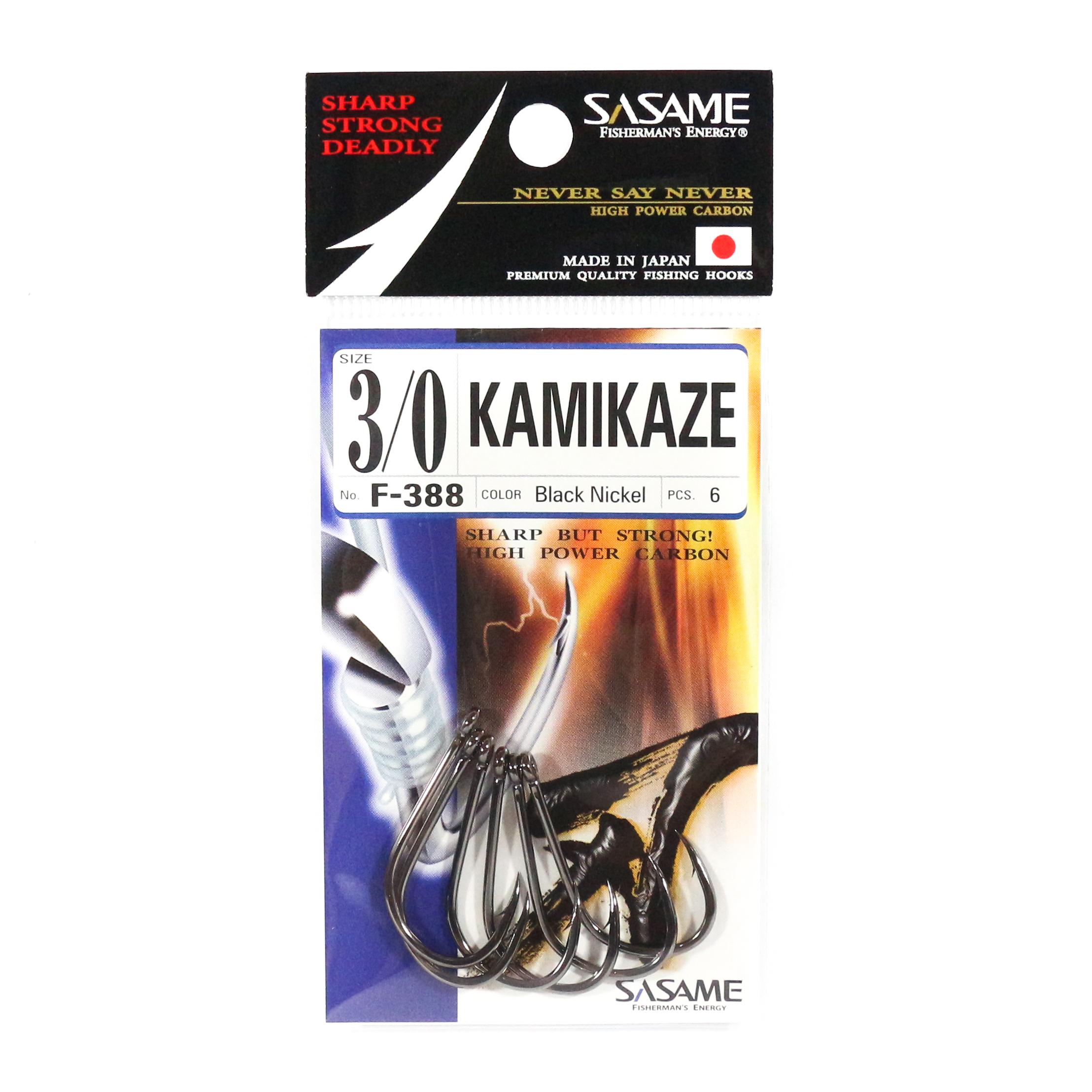 Sasame F-388 Kamikaze Straight Shank Offset Hook Size 3/0 (4859)