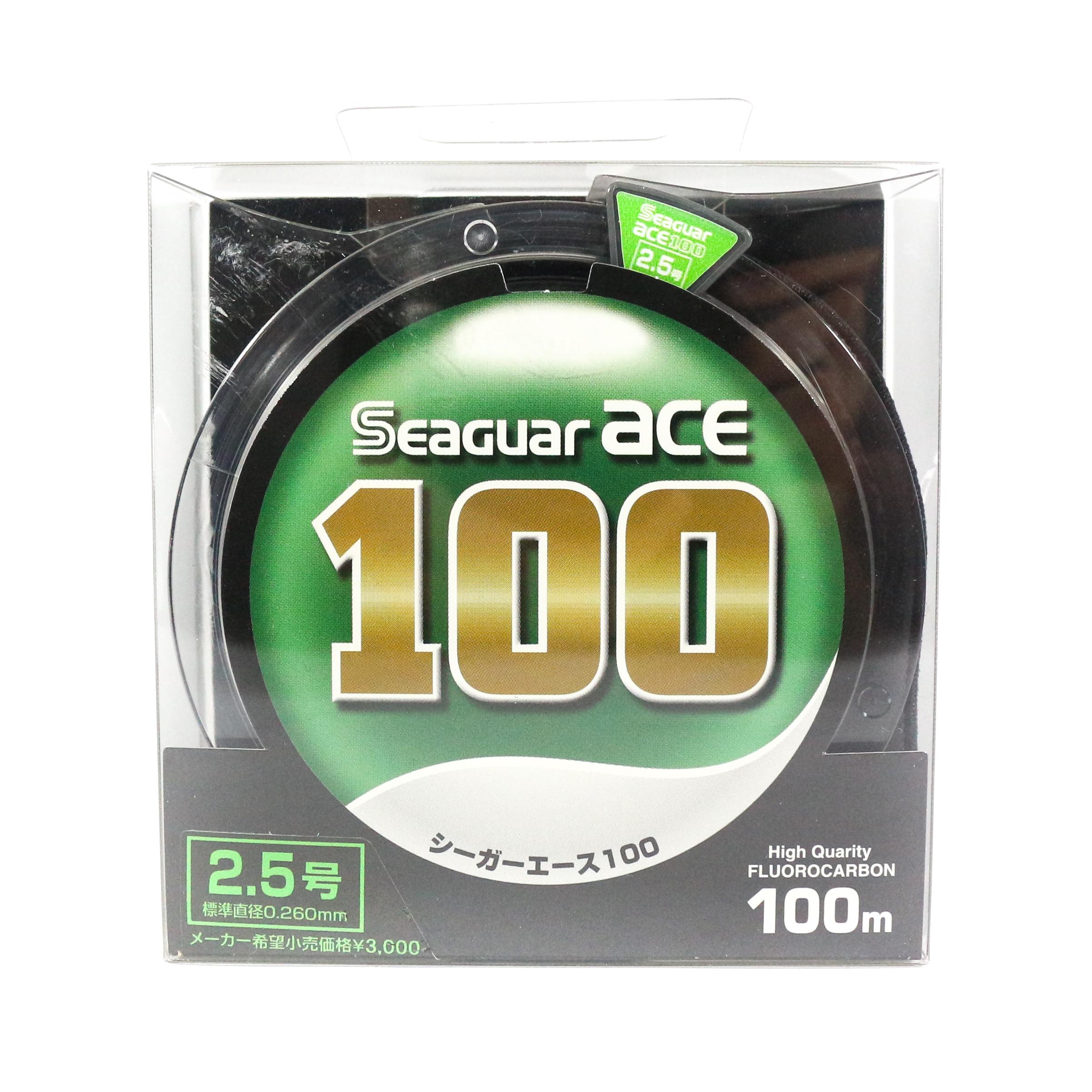 Seaguar Ace Fluorocarbon Leader Line 100m Size 2.5 - 3.15kg - 0.26mm (1261)