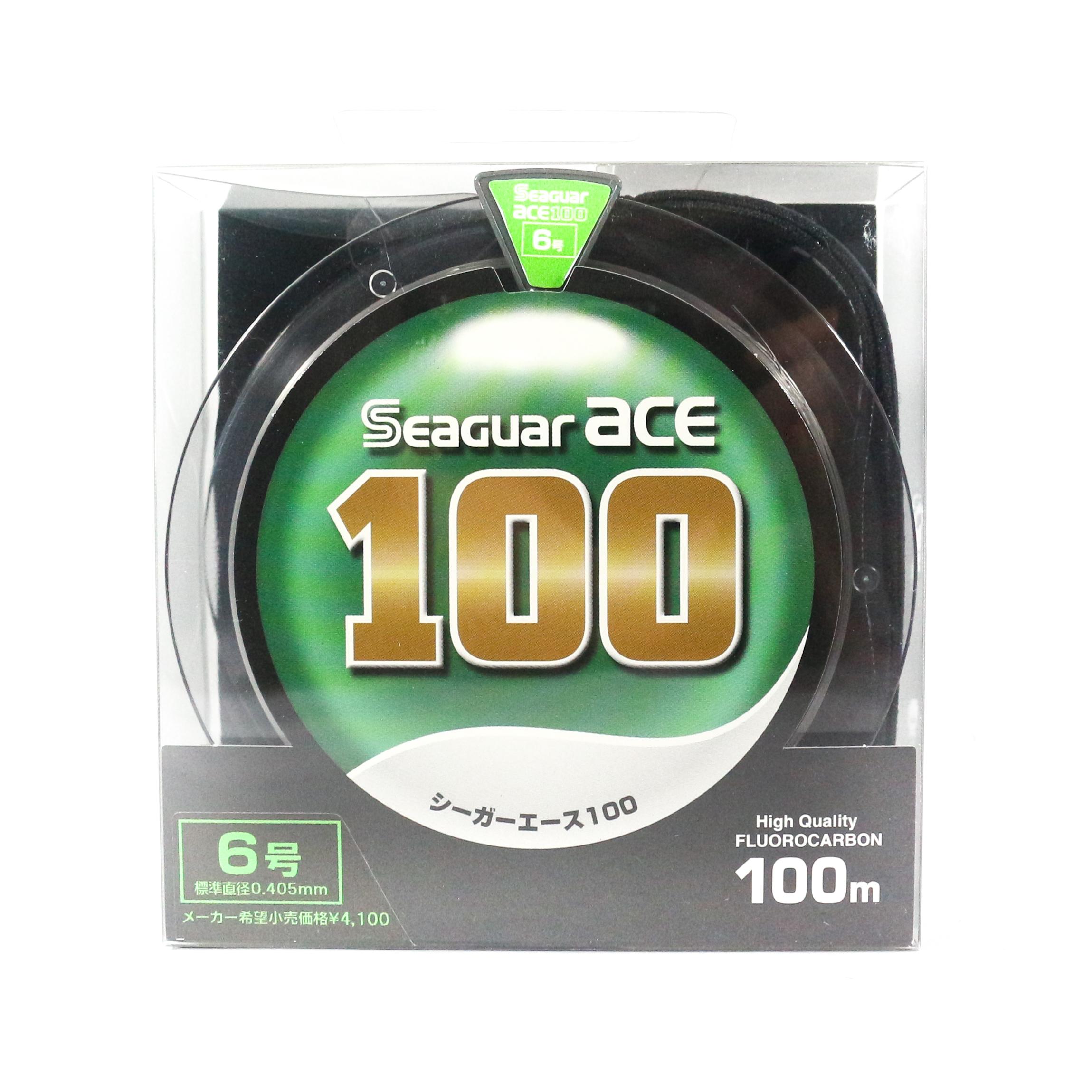 Seaguar Ace Fluorocarbon Leader Line 100m Size 6 - 6.6kg - 0.405mm (1322)