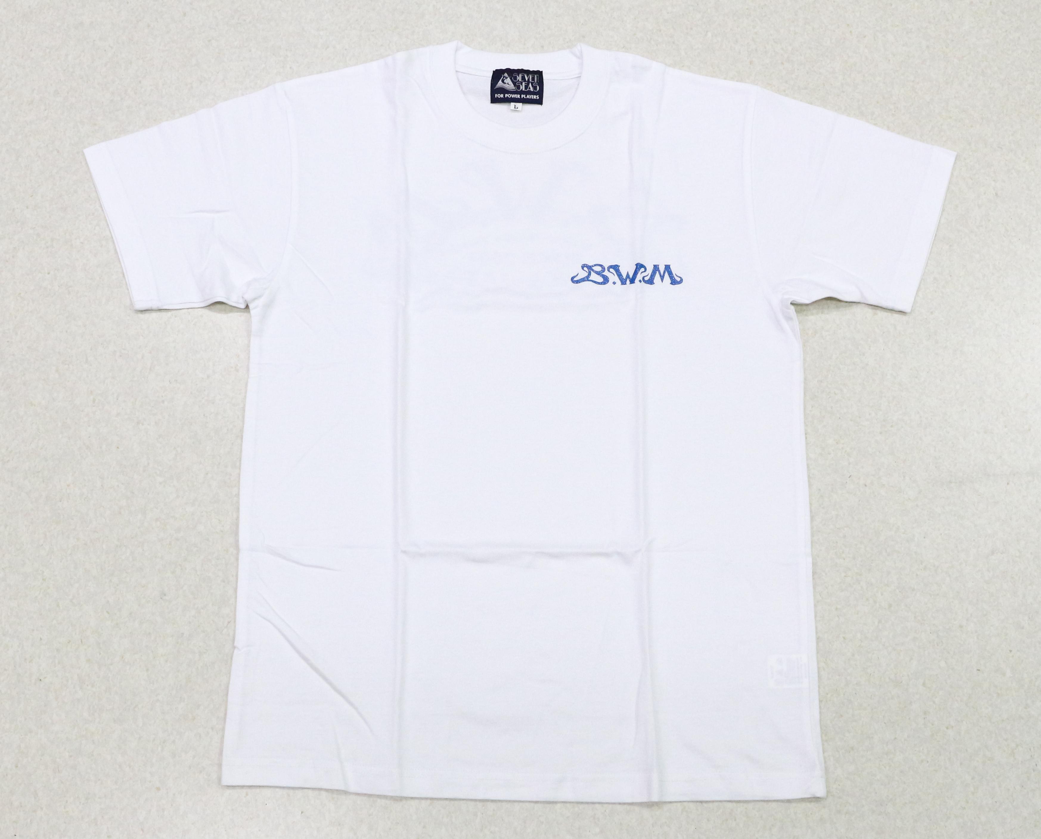 Sale Seven Seas T-Shirt Blue Water Magic White LL (0105)