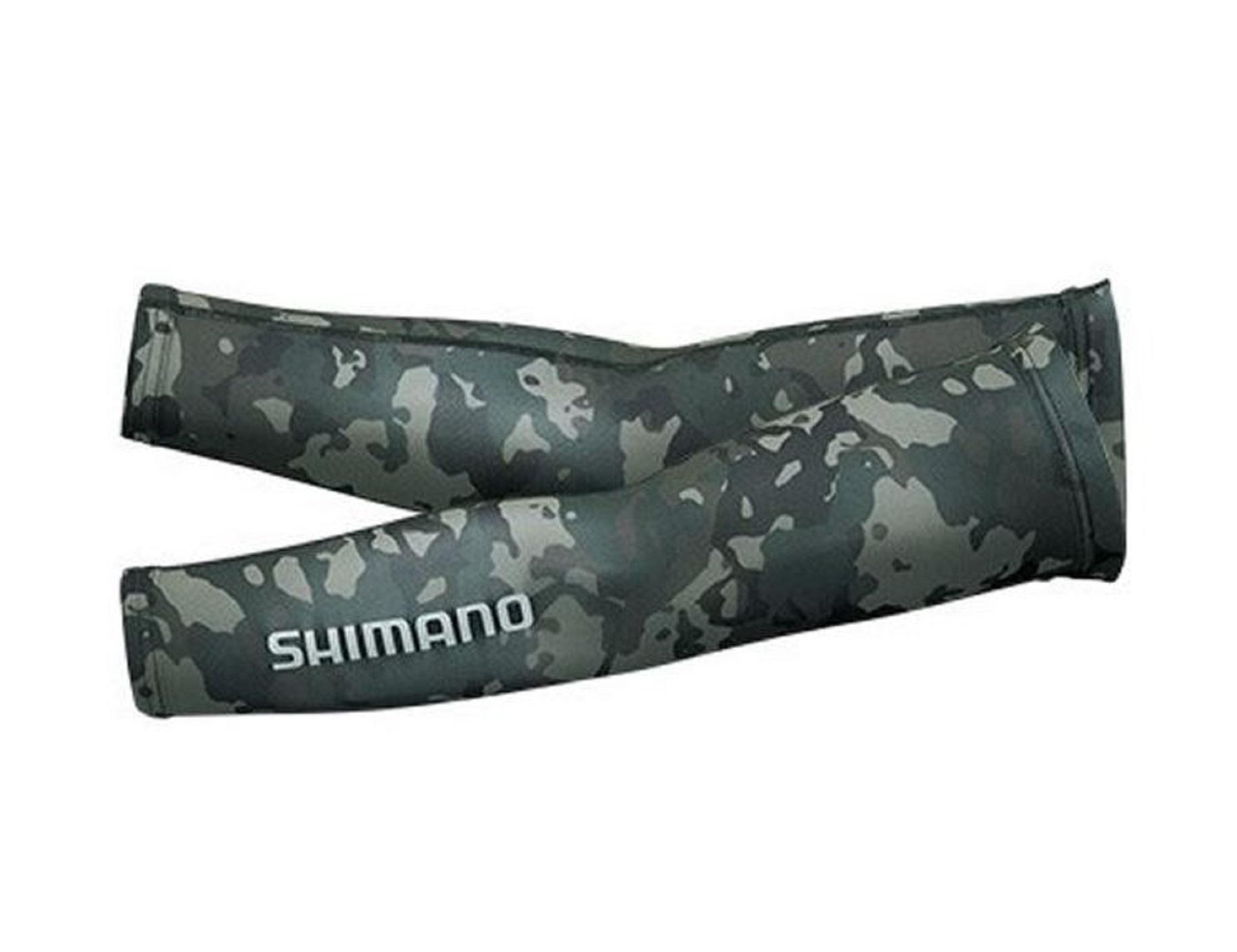 Shimano AC-067Q Arm Sleeves Black Camo Free Size 630650