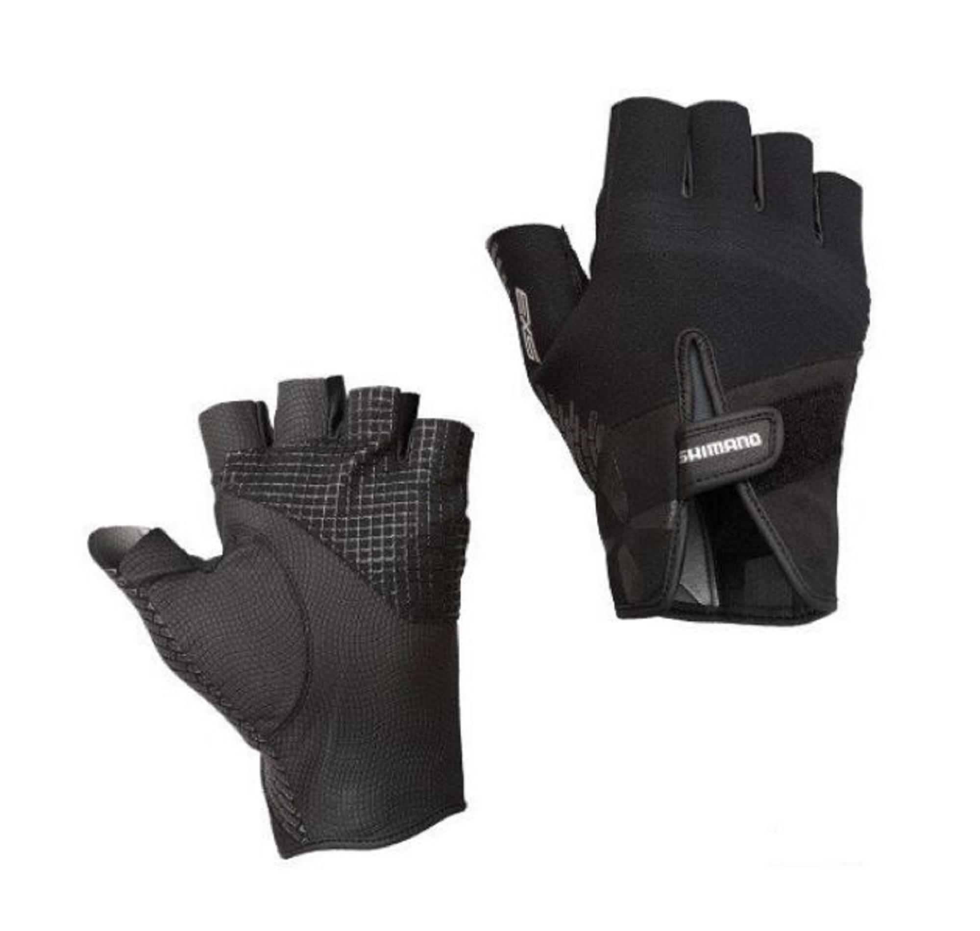 Shimano GL-269P Gloves Fingerless Titanium Size L Black 465870