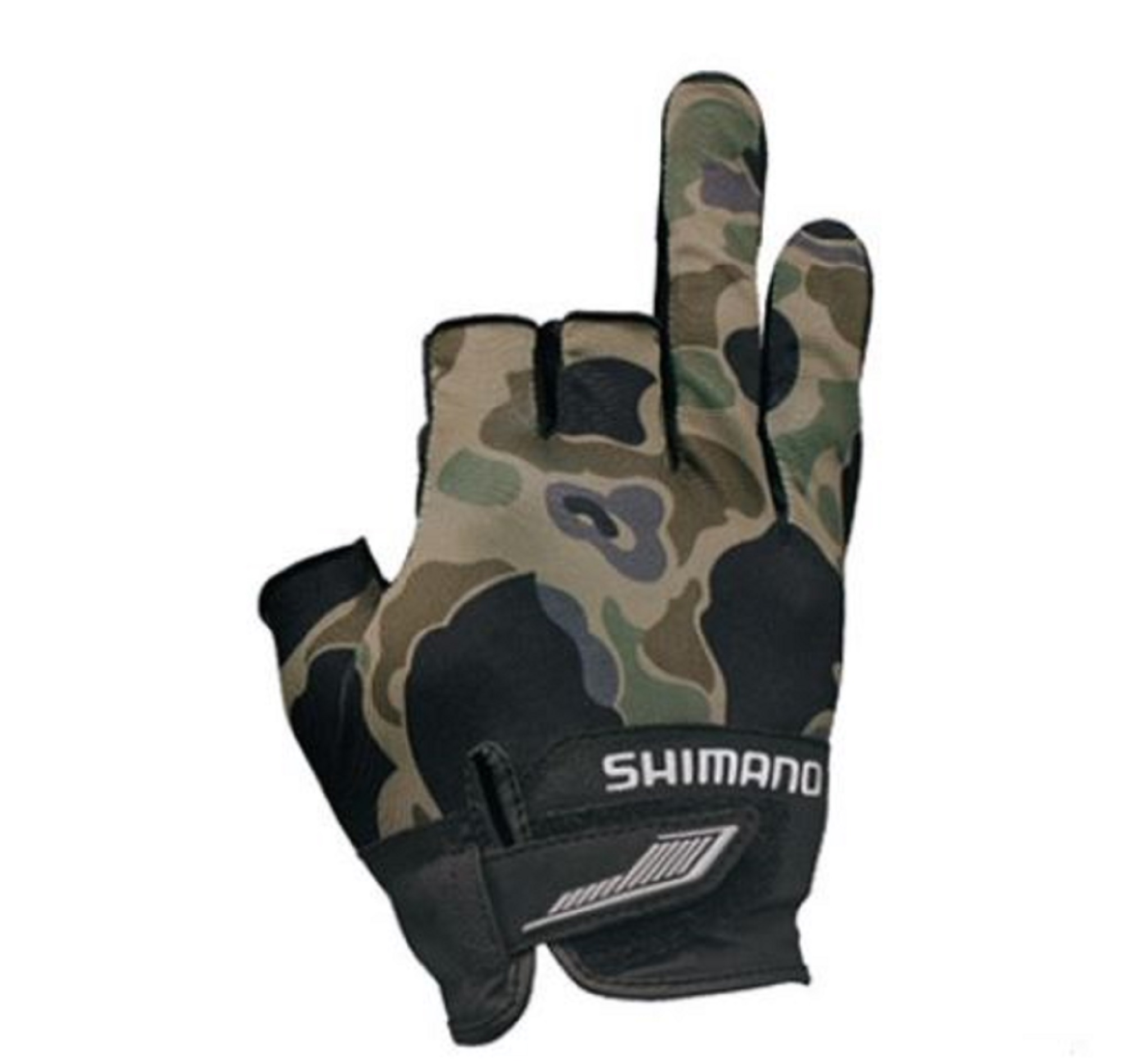 Shimano GL-021S Gloves 3D Casting 3 Fingerless Camou Size M 669414