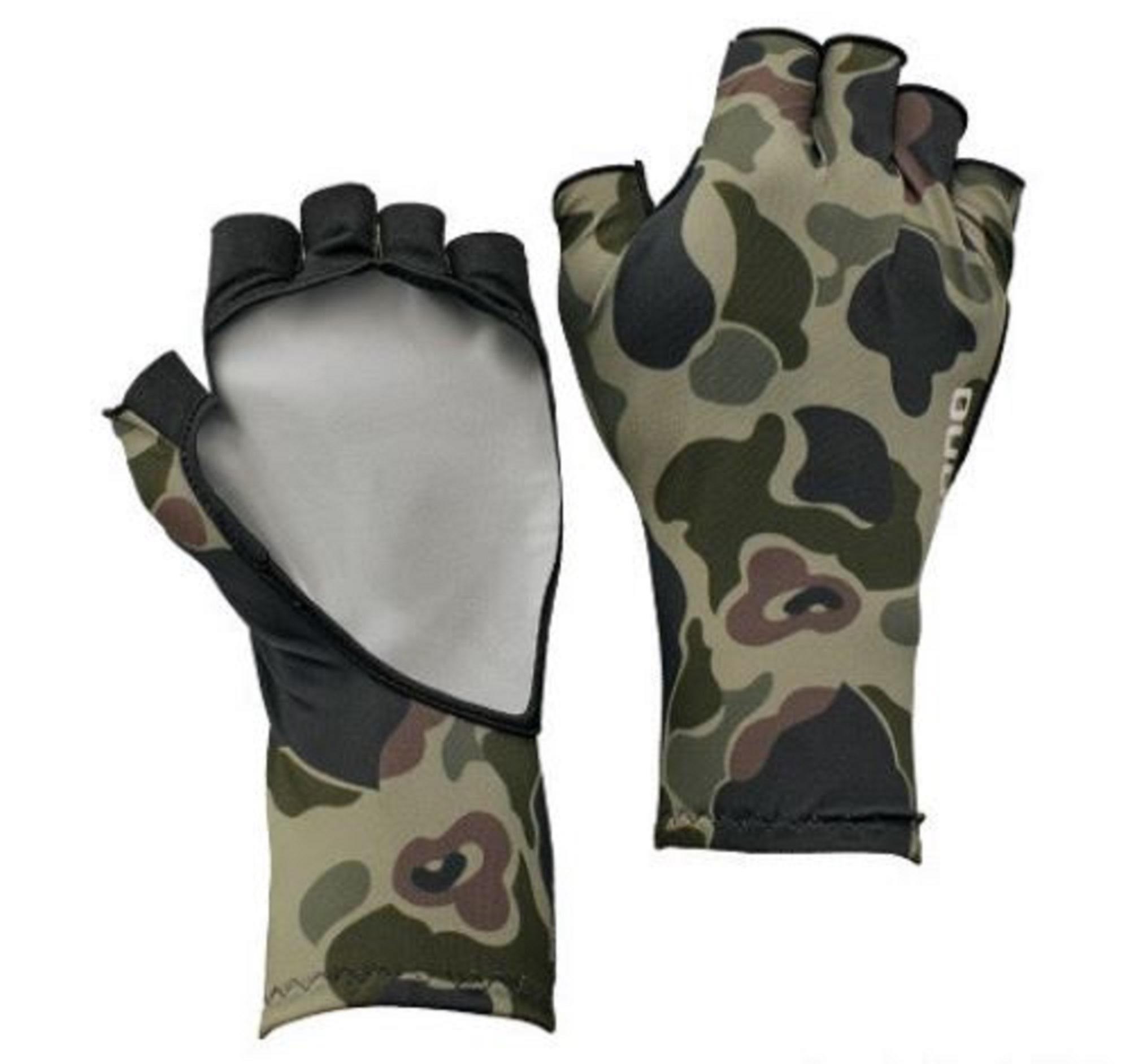 Shimano GL-048Q Gloves UPF 50 5 Fingerless Green Camou Size XL 669872