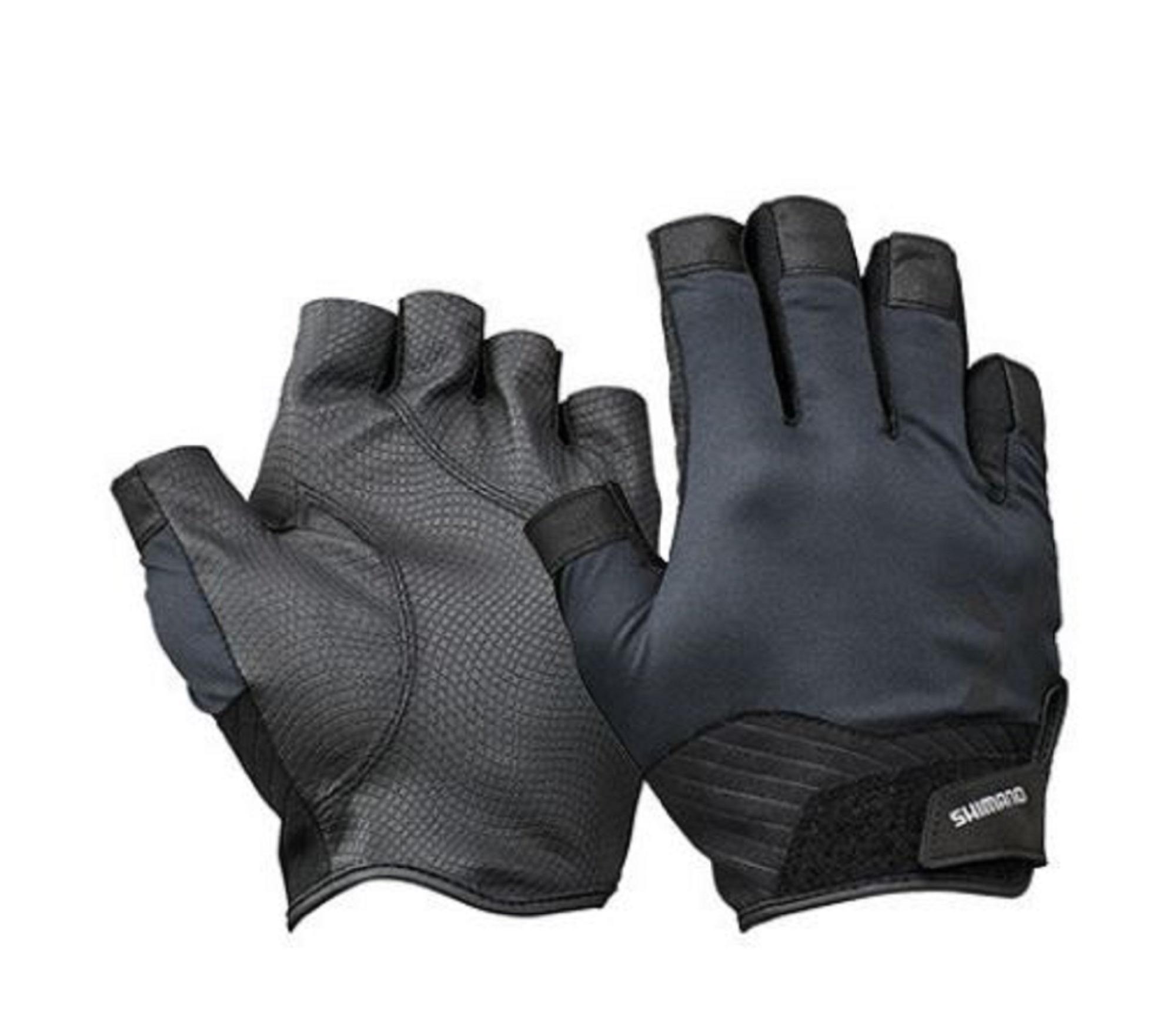 Shimano GL-222T Gloves Rungun 5 Fingerless Black Size XL 670243