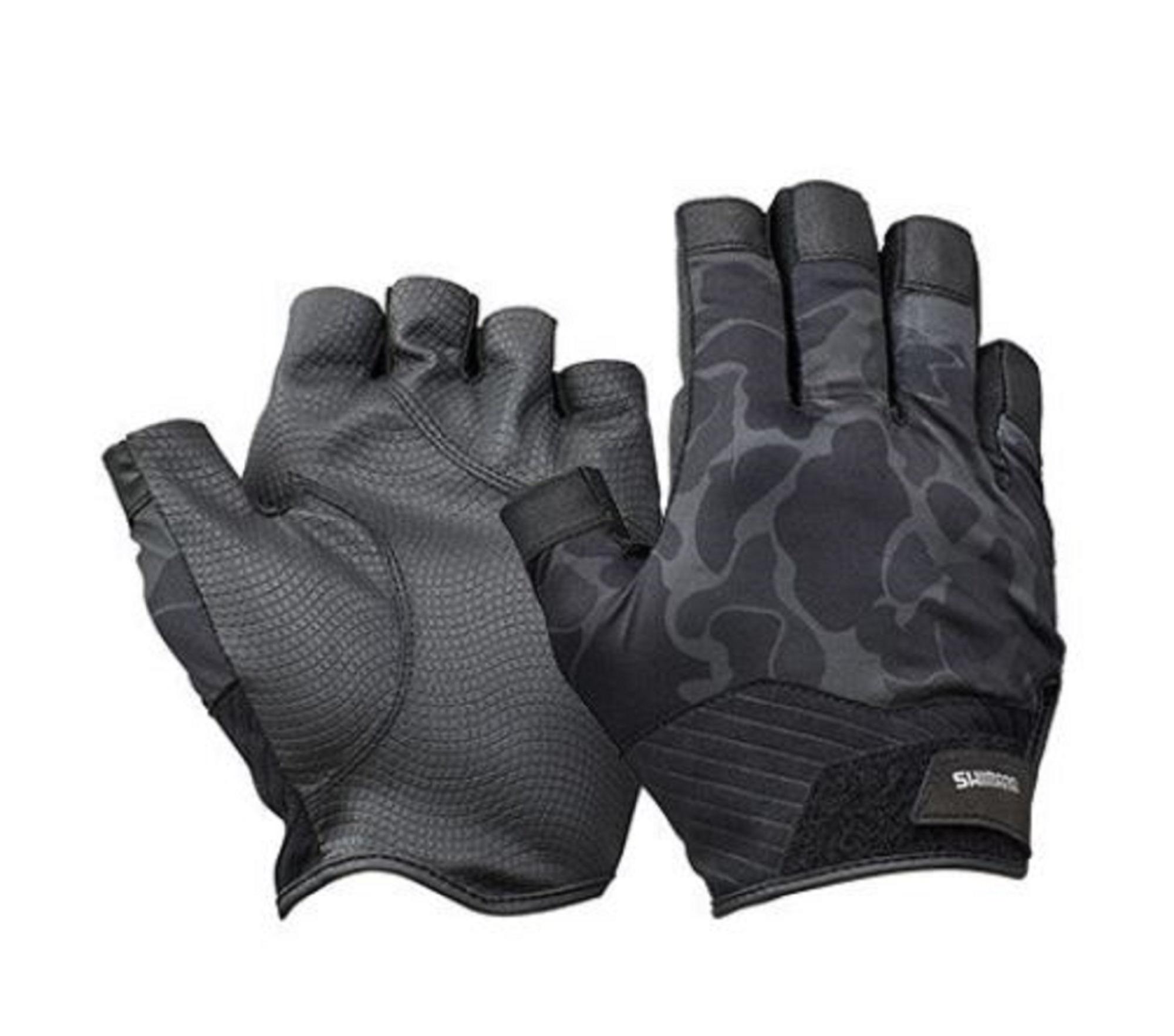 Shimano GL-222T Gloves Rungun 5 Fingerless Duck Camou Size XL 670274
