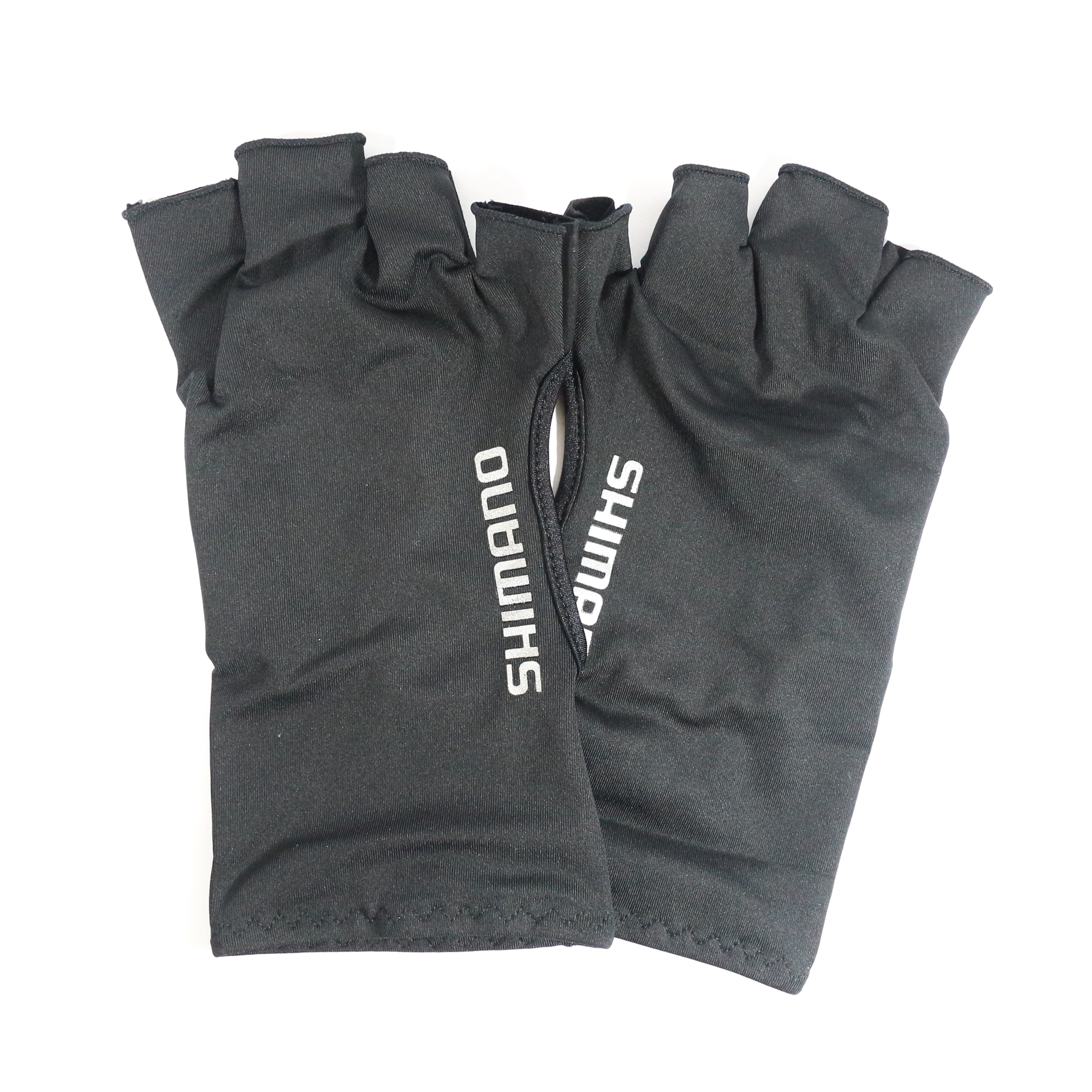 Shimano GL-048Q Gloves UPF 50 Sun Protection 5 Fingerless Bk Size XL 483300