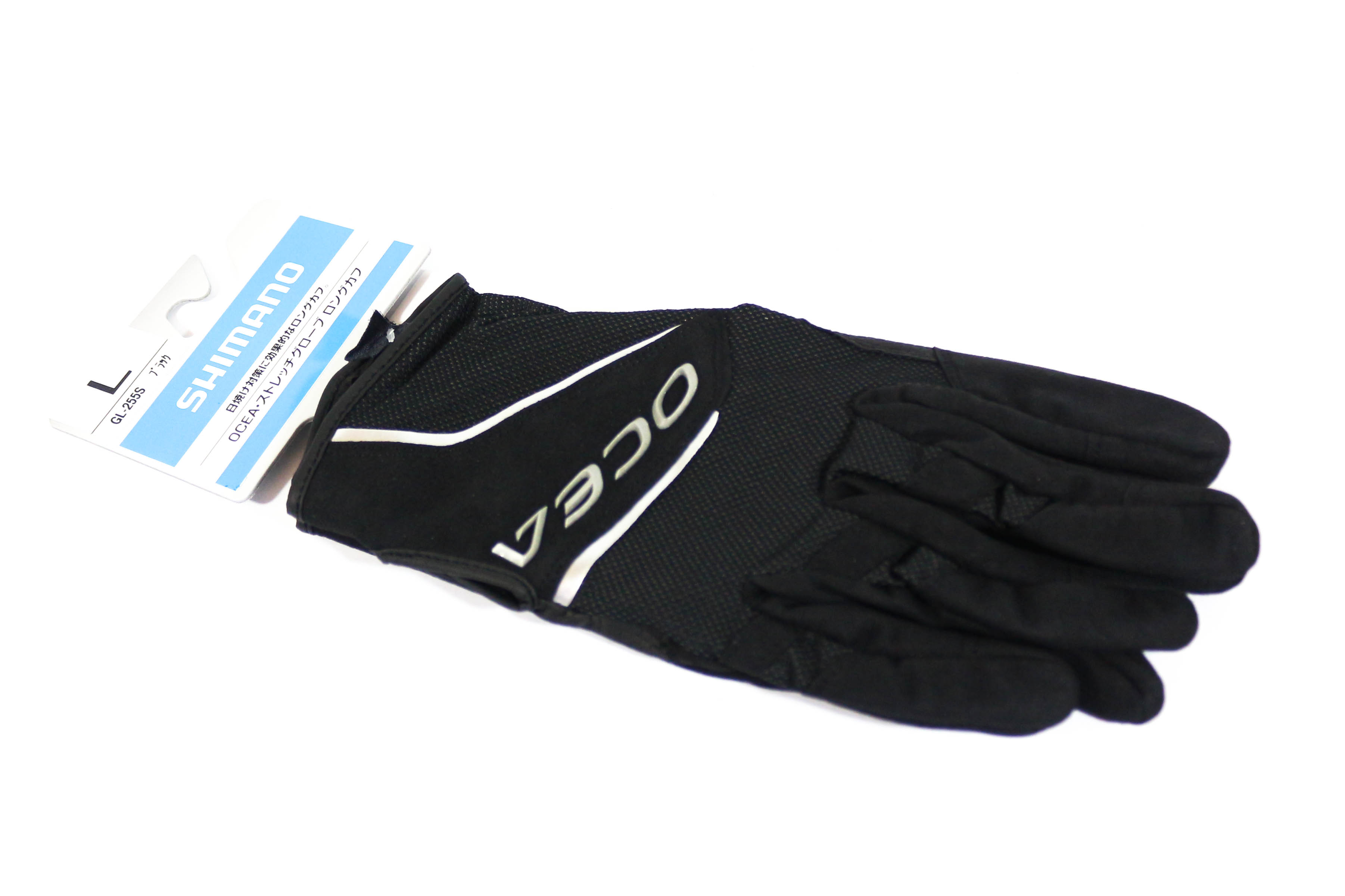 Shimano GL-255S Gloves Ocea Long Cuff Stretch Glove Black Size L 634764