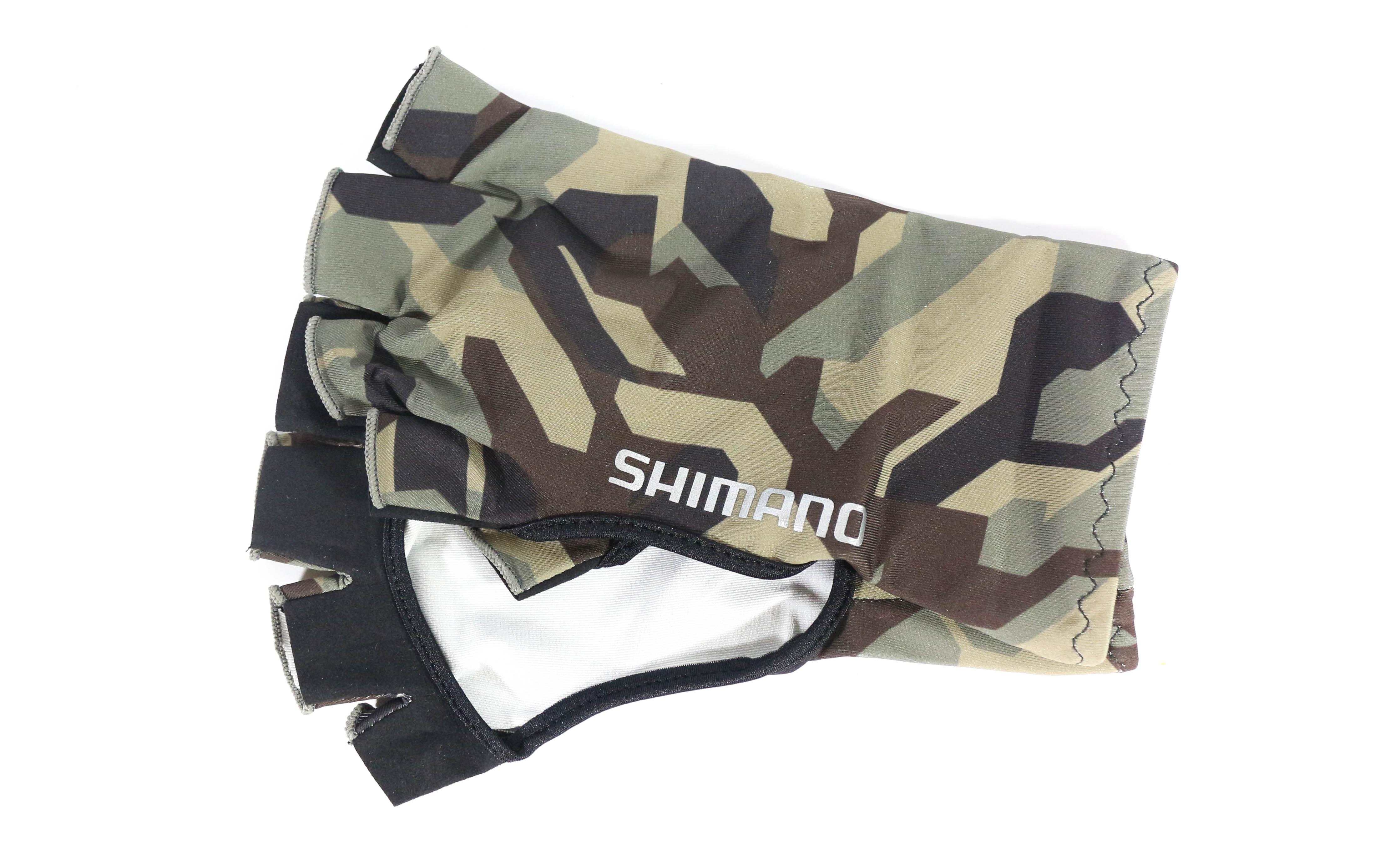 Shimano GL-048Q Hand Cover Fingerless Size L Khaki (3386)