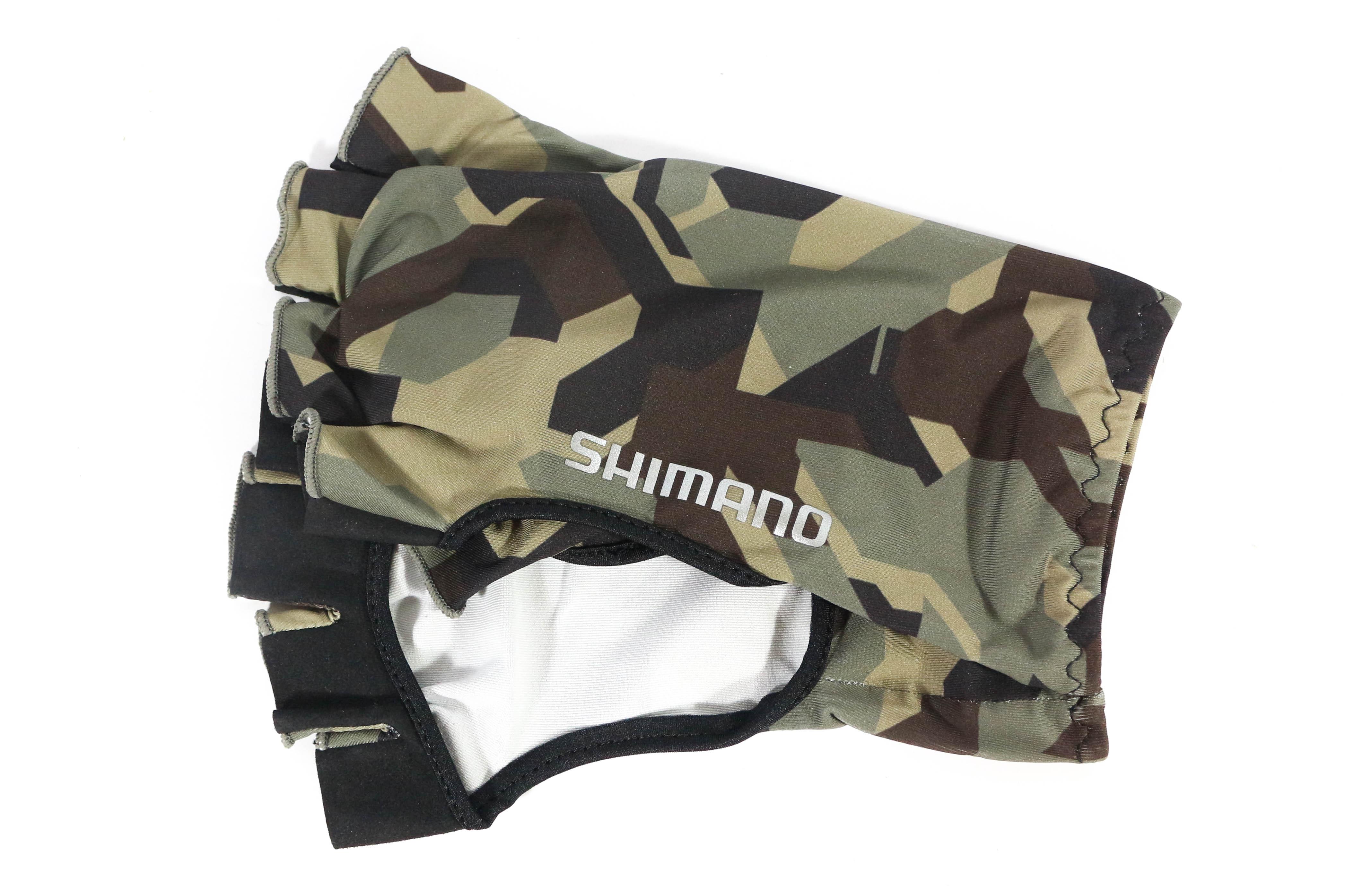 Shimano GL-048Q Hand Cover Fingerless Size XL Khaki (3393)