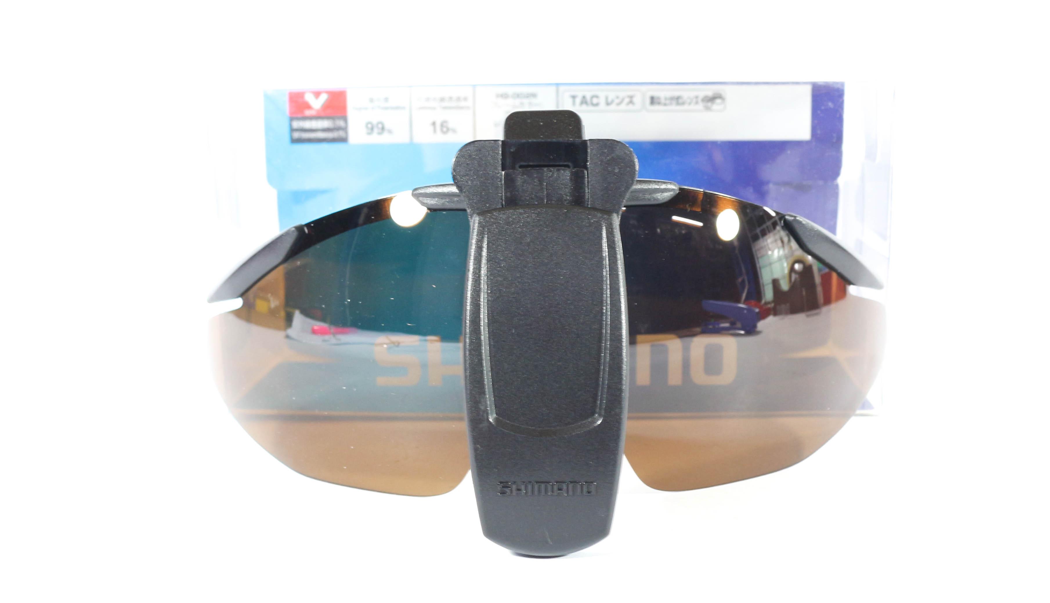 Shimano HG-002N Sunglasses Polarised Clip on Cap Amber 413246