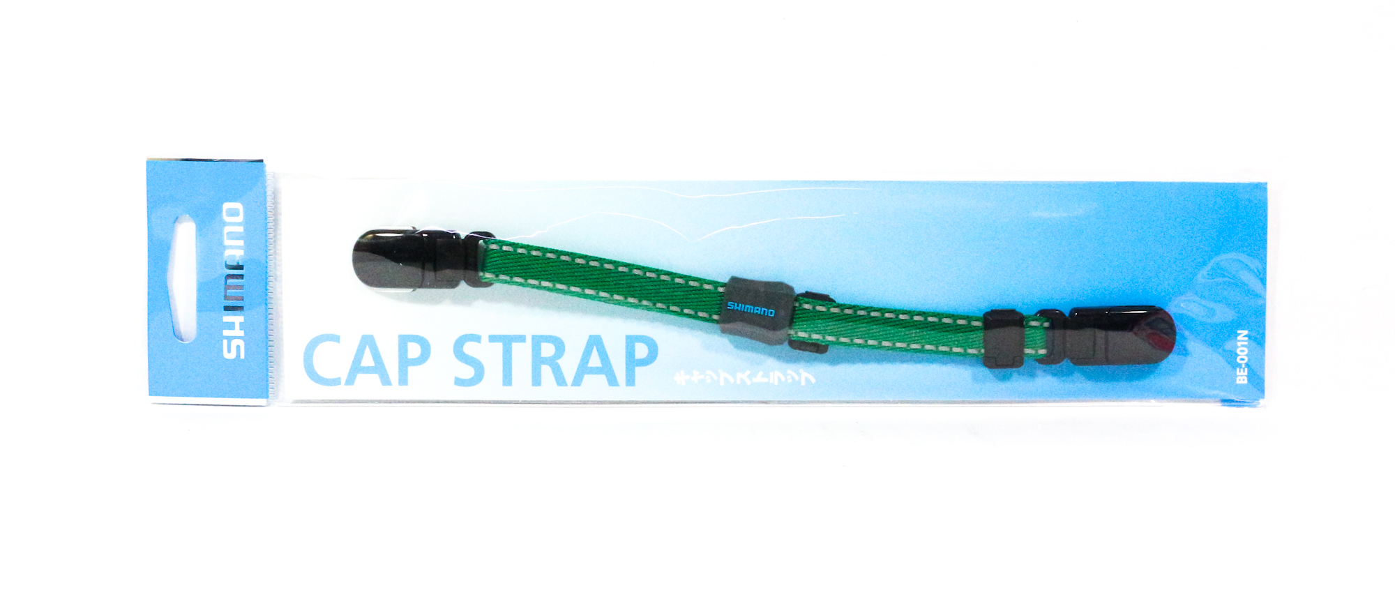 Shimano BE-001N Clip on Cap Strap Green 414953