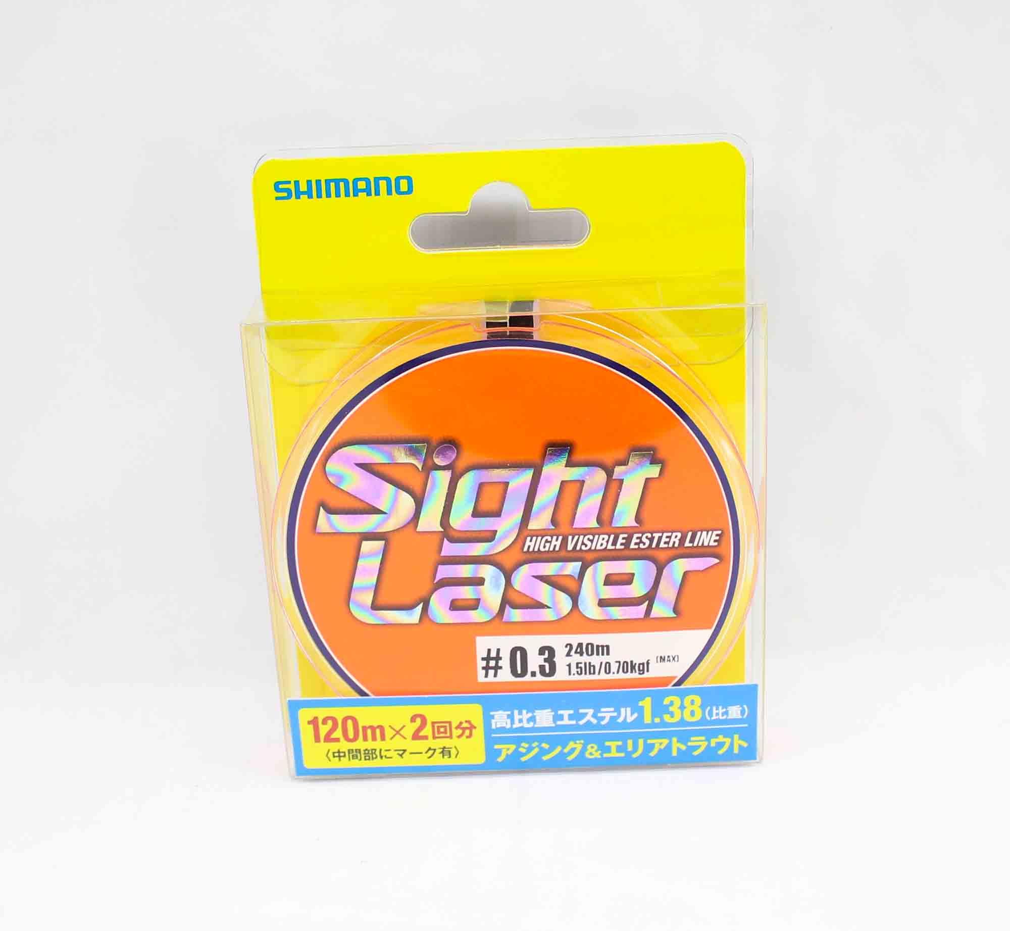 Shimano CL-L75Q Sight Laser Ester Line Orange 240m Size 0.3 1.5lb 549204