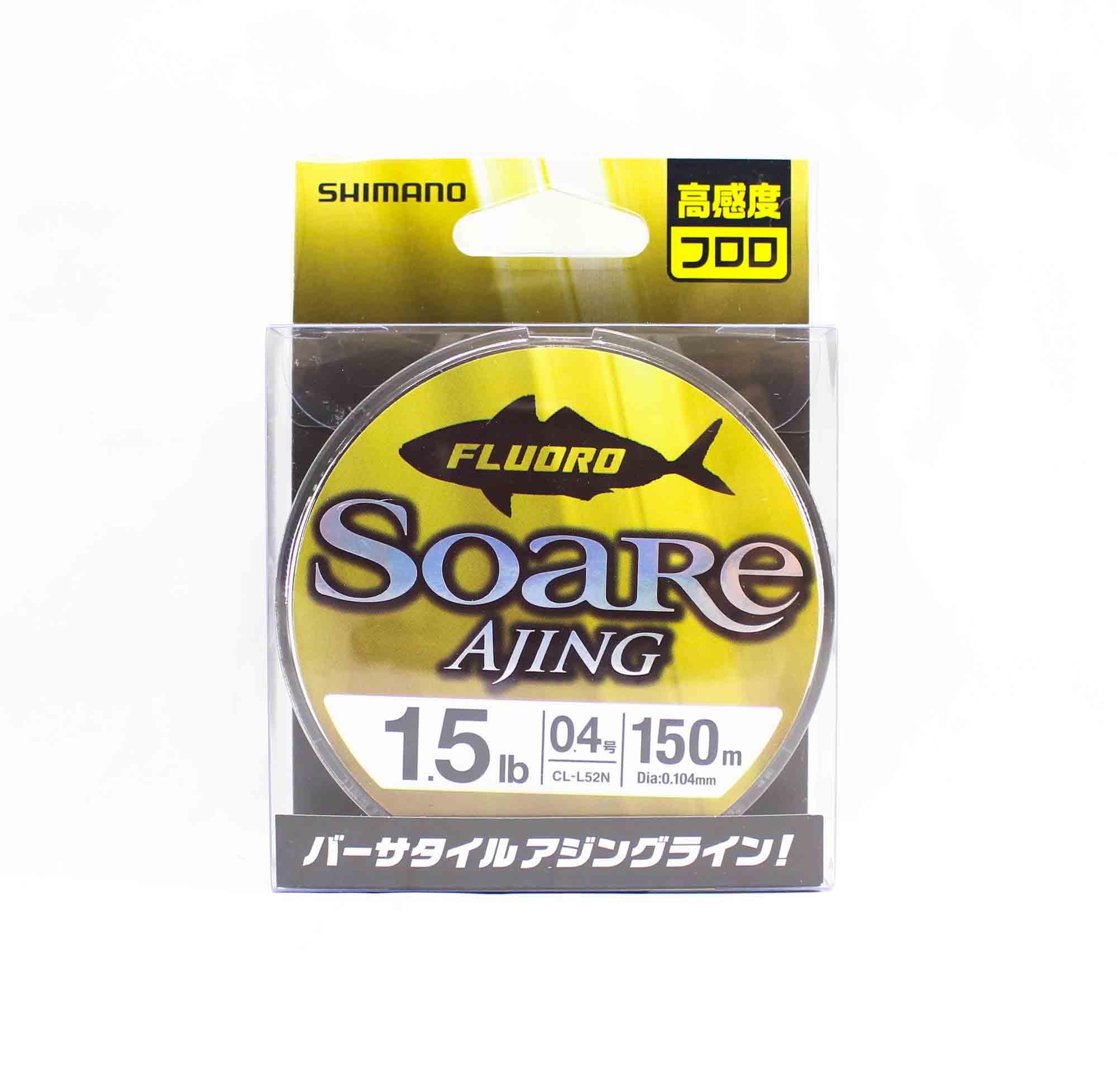 Shimano CL-52N Soare Ajing Fluorocarbon Line 150m Size 0.4 1.5lb 442611
