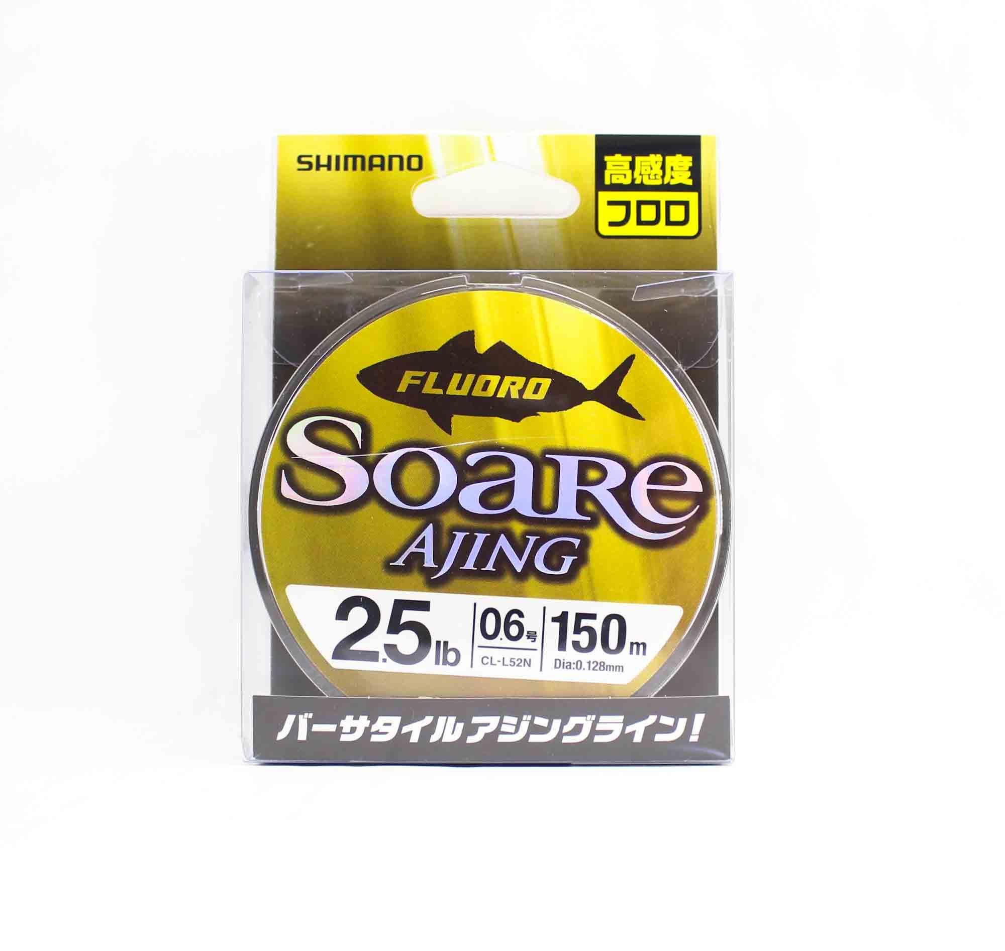 Shimano CL-52N Soare Ajing Fluorocarbon Line 150m Size 0.6 2.5lb 442628