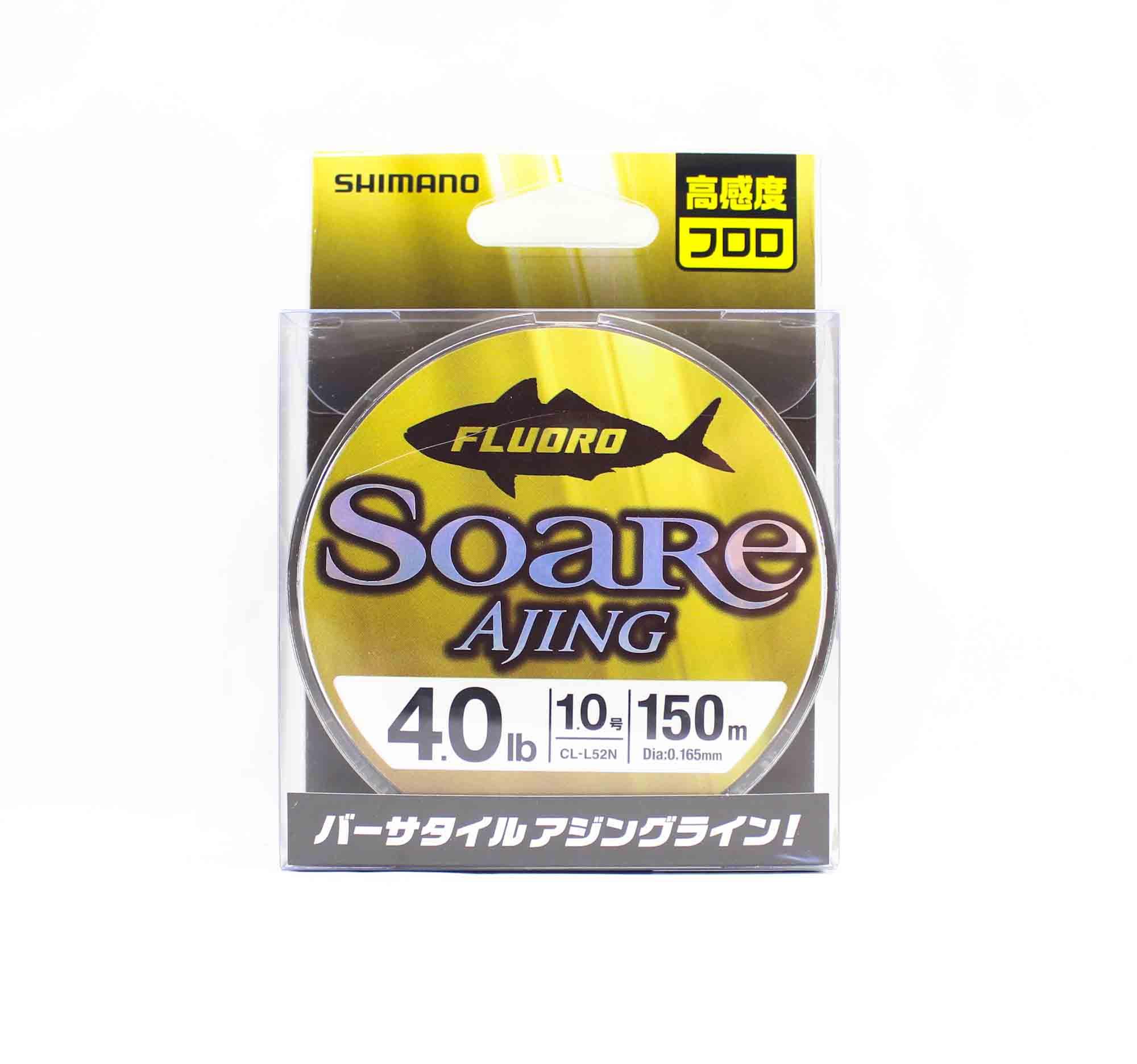 Shimano CL-52N Soare Ajing Fluorocarbon Line 150m Size 1.0 4.0lb 442659