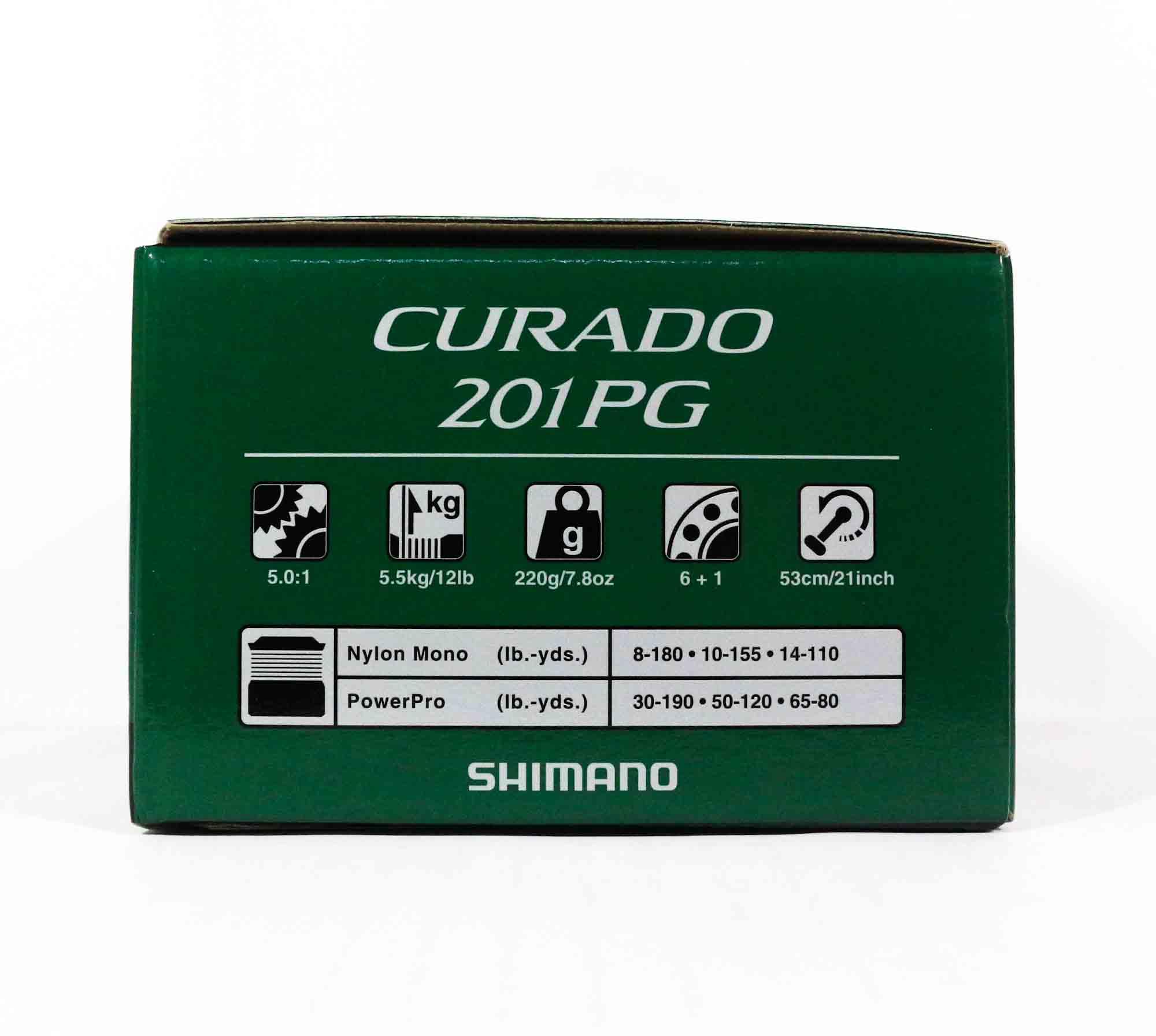 Shimano Reel Baitcast Curado 201 PG CU201PGK Left Hand (7184)