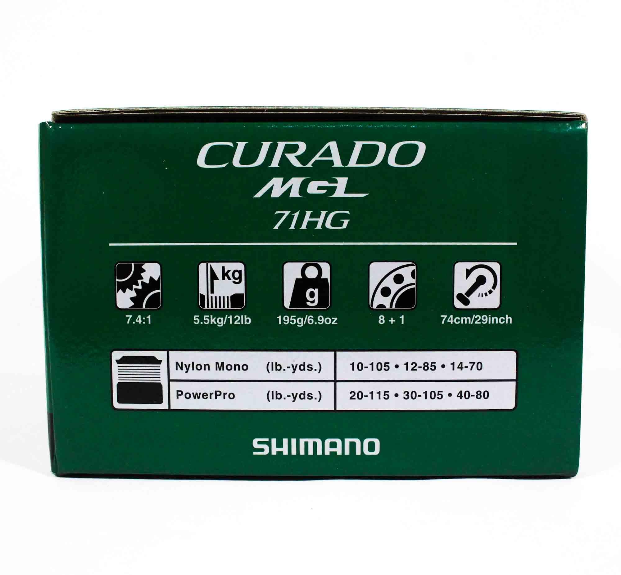 Shimano Reel Baitcast Curado MGL 71 HG CUMGL71HGK Left Hand (1304)
