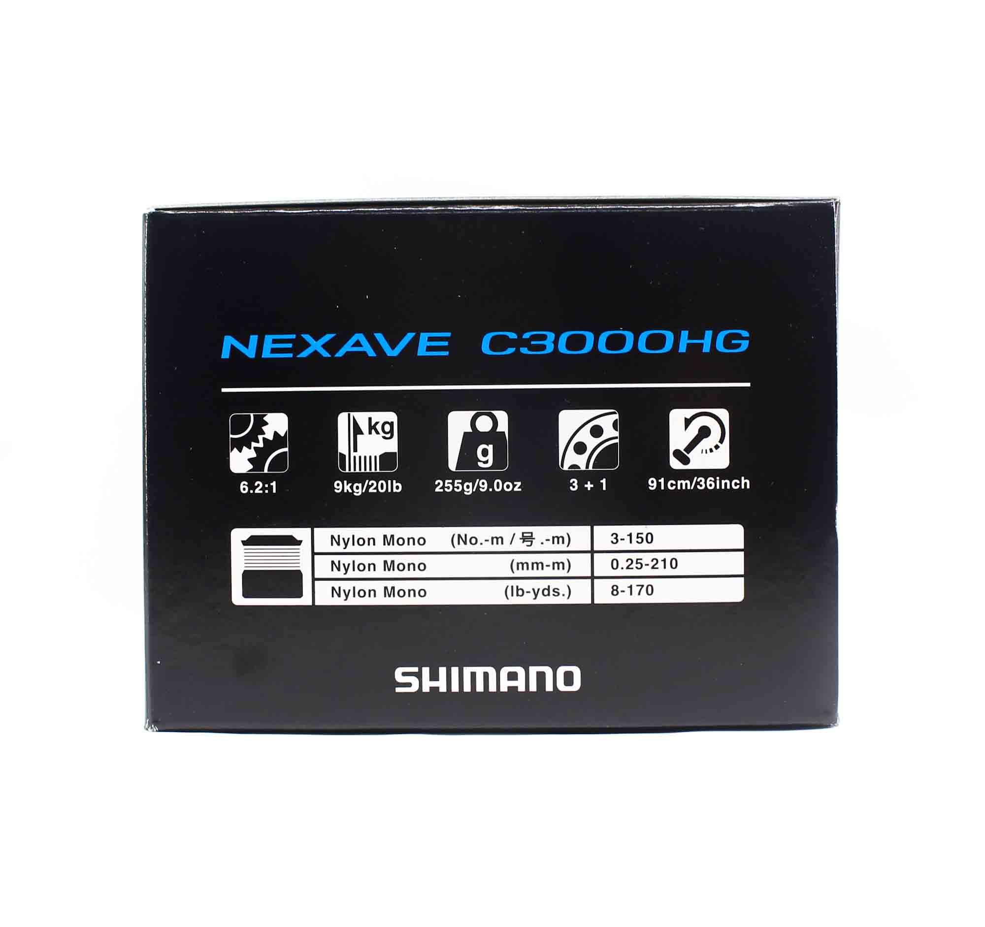 Shimano Reel Spinning Nexave NEXC3000HGFI C3000 HG (7138)