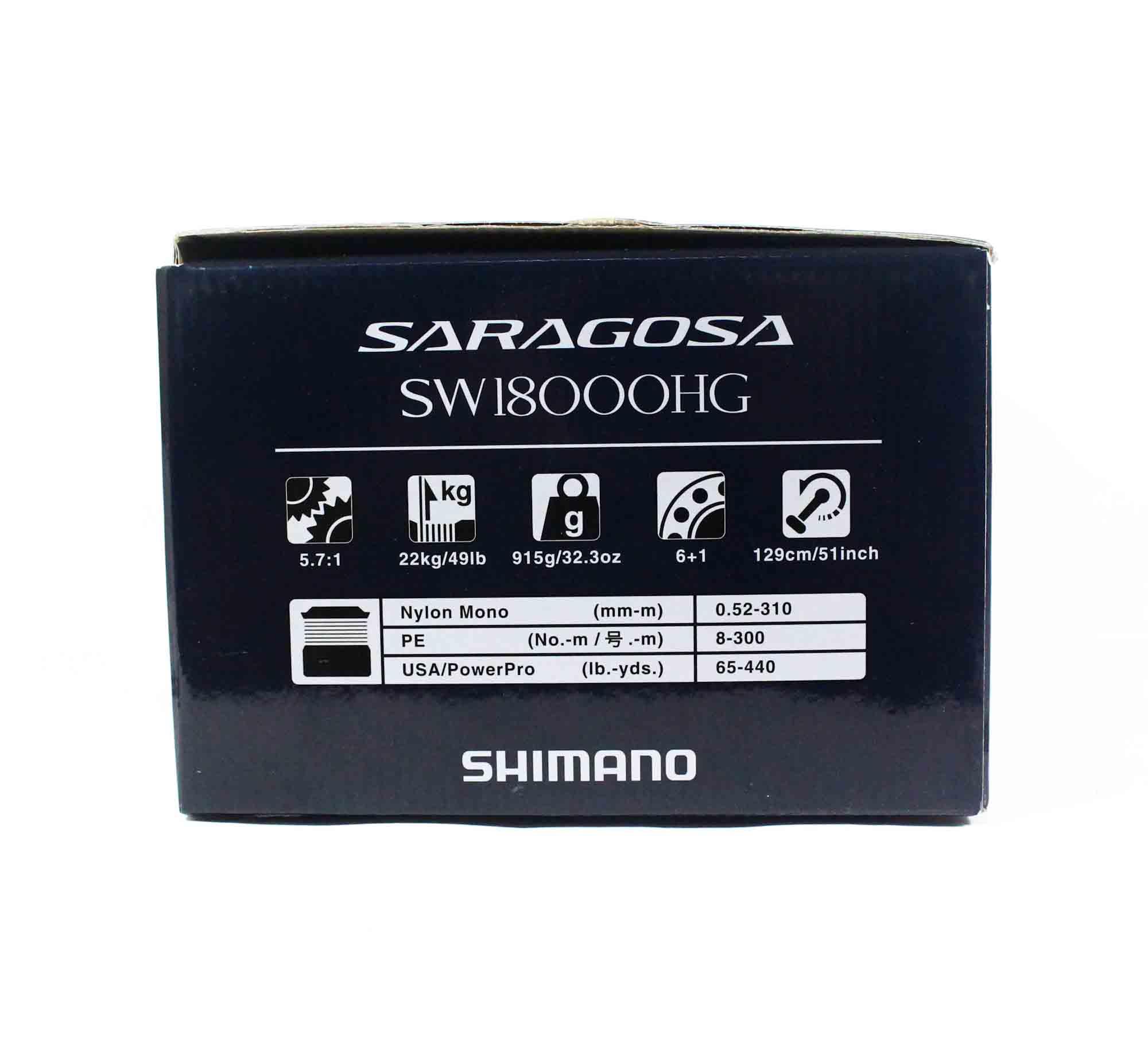 Shimano Reel Spinning Saragosa SRG18000SWAHG SW 18000 HG 2020 (0451)