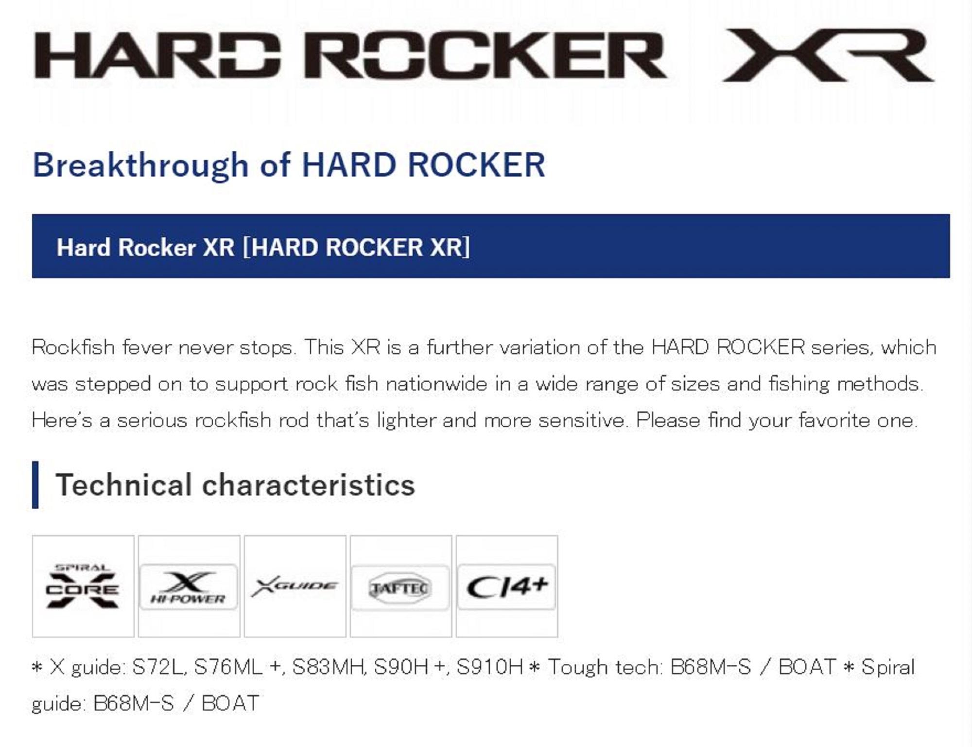 Shimano Rod Spinning Hard Rocker XR S72L 399021