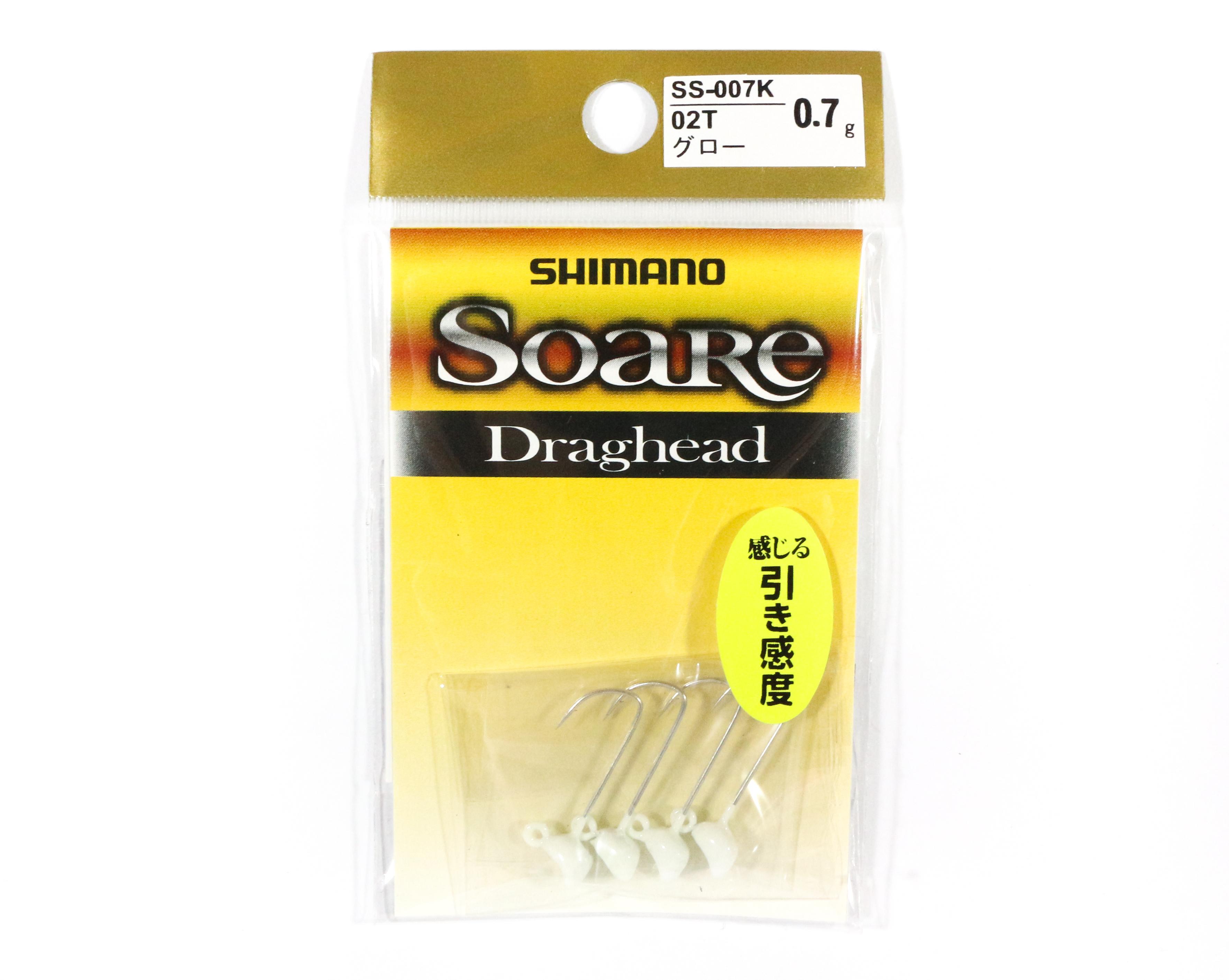 Shimano SS-007K Jig Head Soare Drag Head Glow 0.7 grams 02T 762832