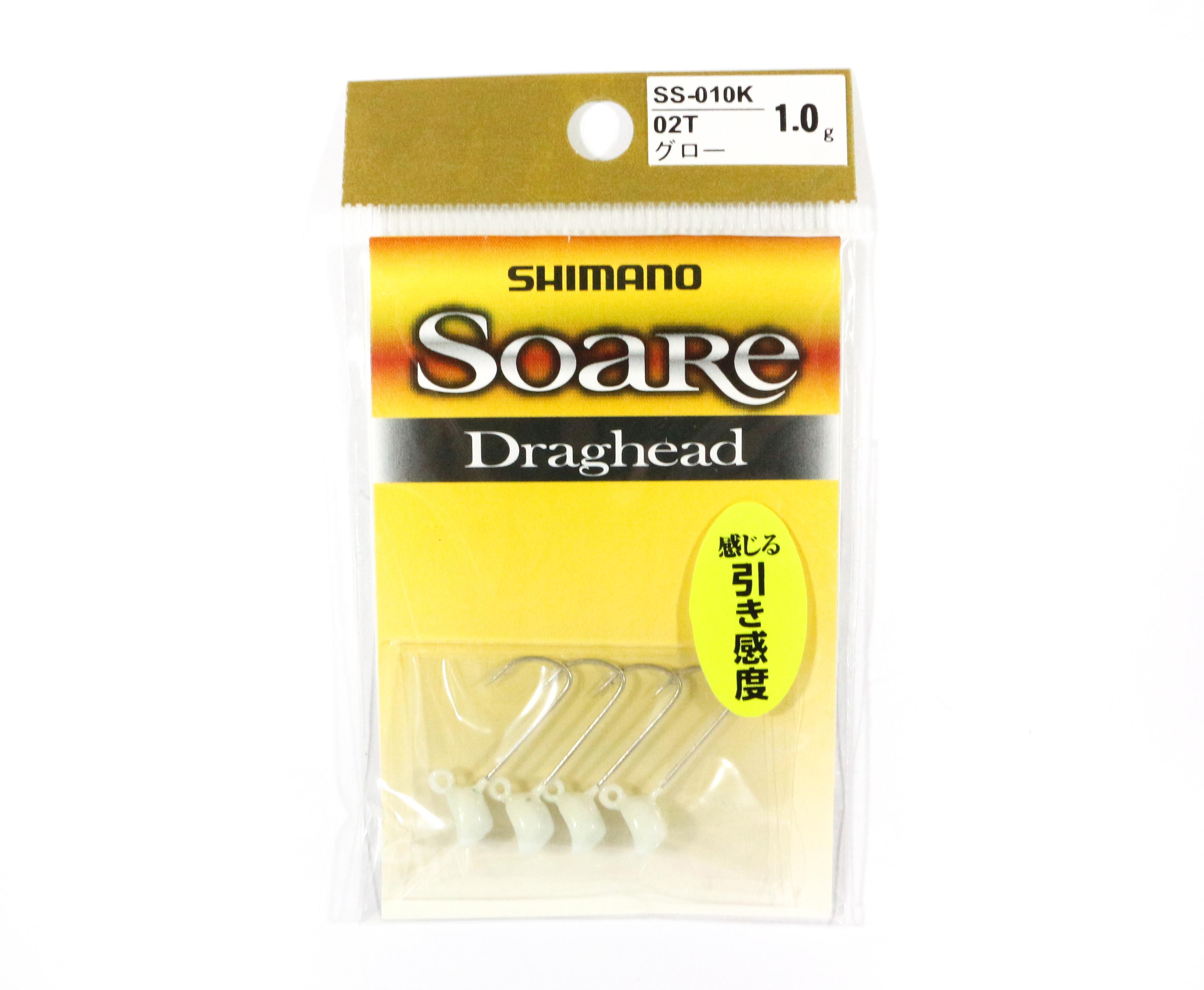 Shimano SS-010K Jig Head Soare Drag Head Glow 1.0 grams 02T 762863