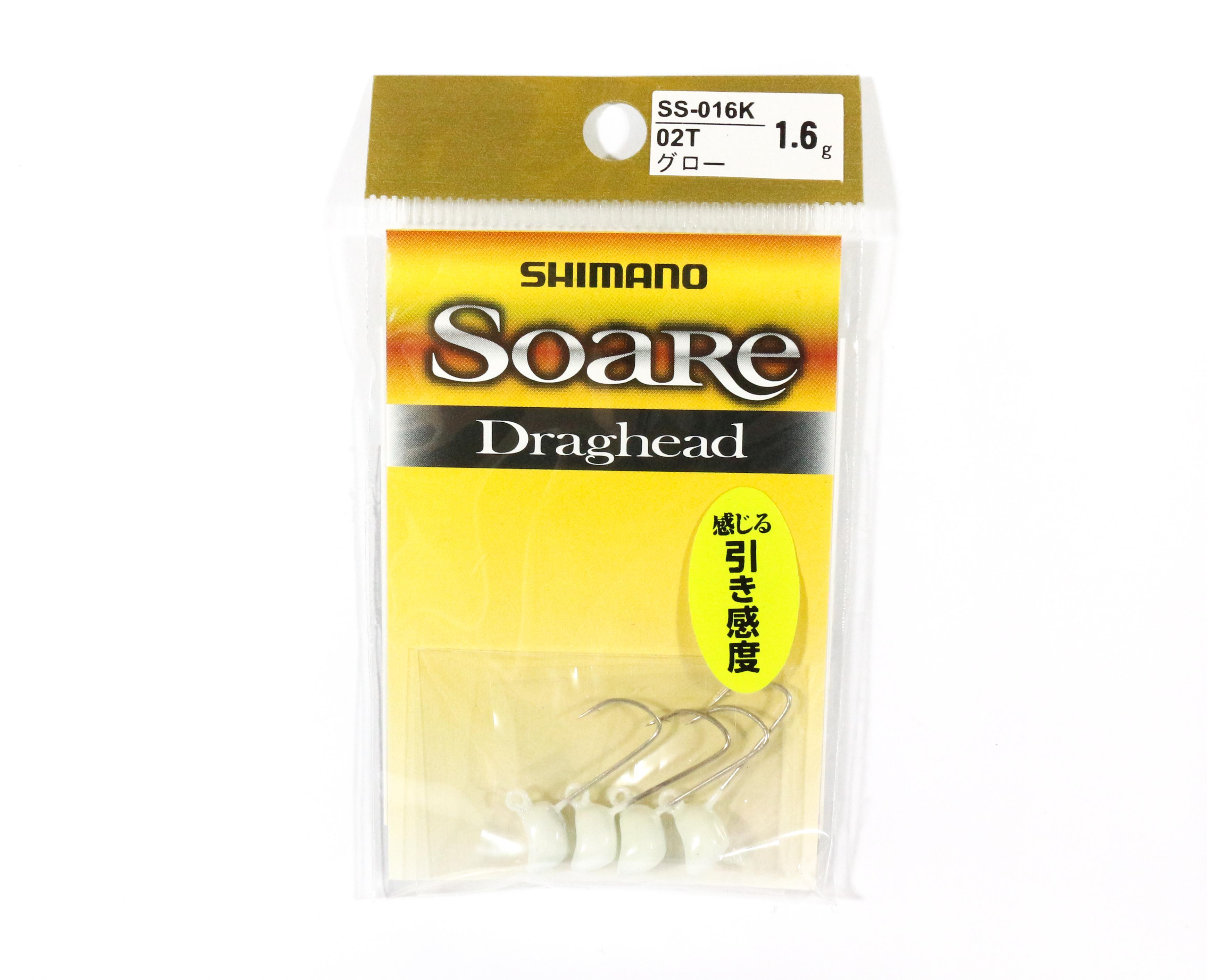 Shimano SS-016K Jig Head Soare Drag Head Glow 1.6 grams 02T 762924