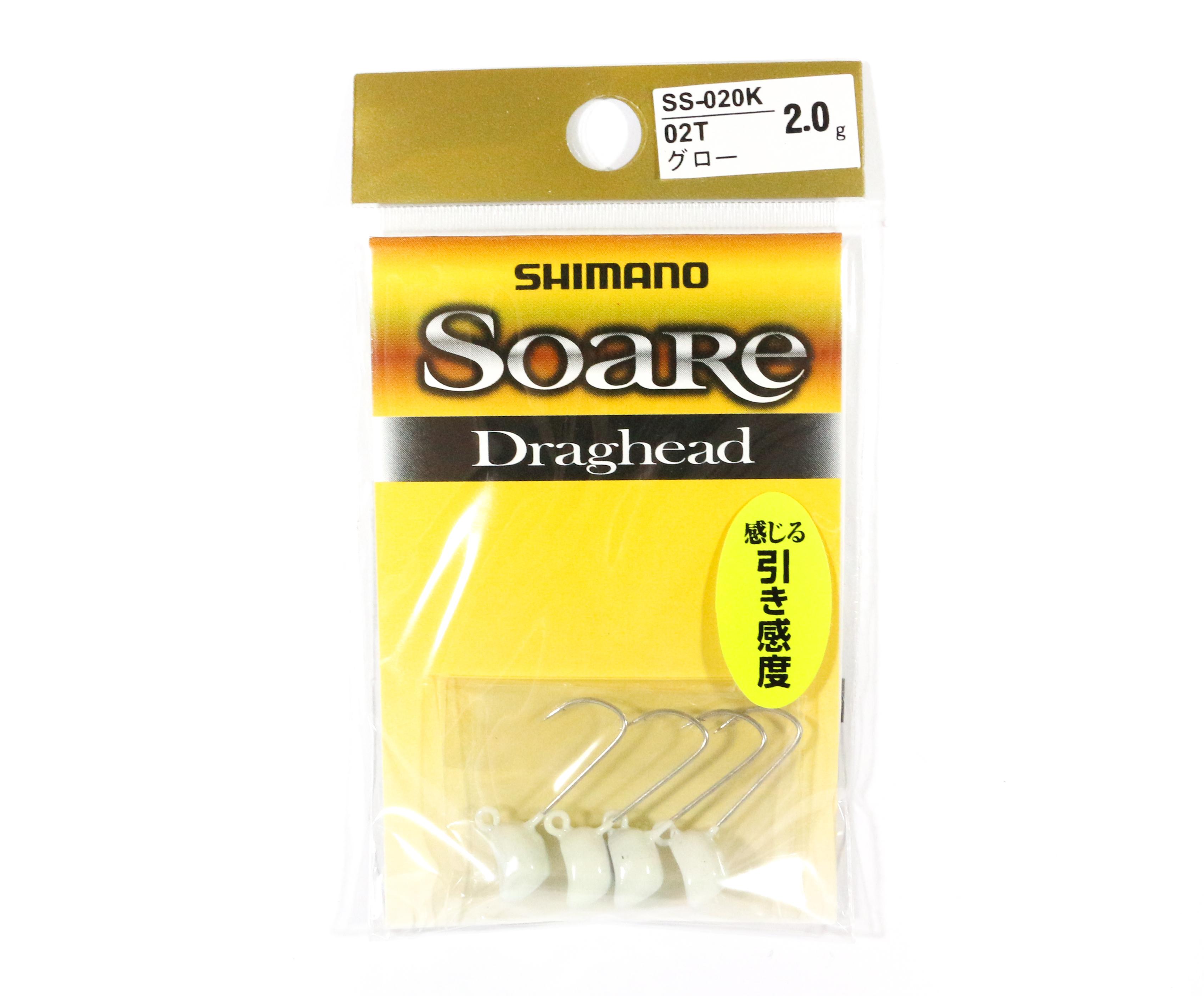 Shimano SS-020K Jig Head Soare Drag Head Glow 2.0 grams 02T 762955