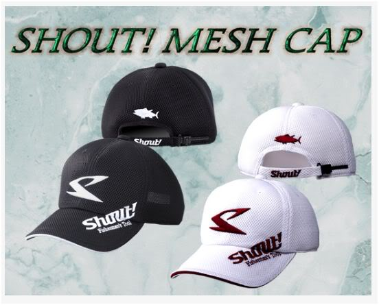 Shout 54-MC Cap Mesh White Free Size Adjustable (9216)