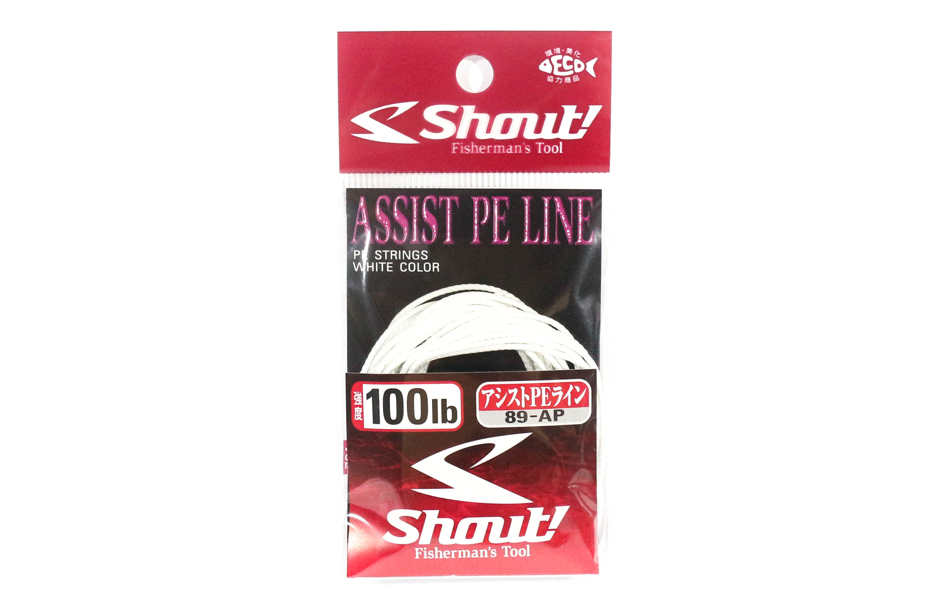 Shout 89-AP Assist P.E Line Assist Rope with Inner Core 100lb 3 meters (7150)