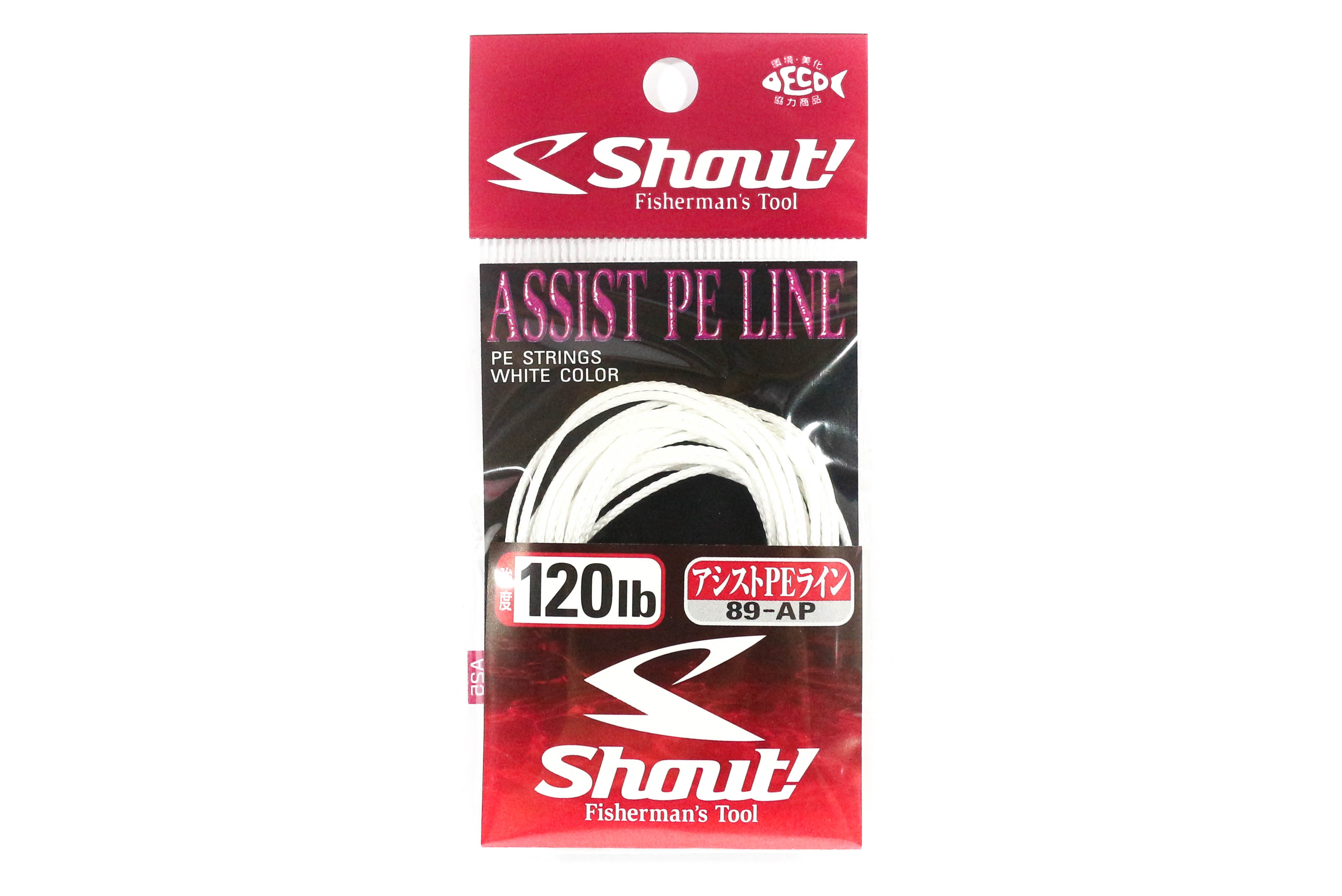 Shout 89-AP Assist P.E Line Assist Rope with Inner Core 120lb 3 meters (7167)