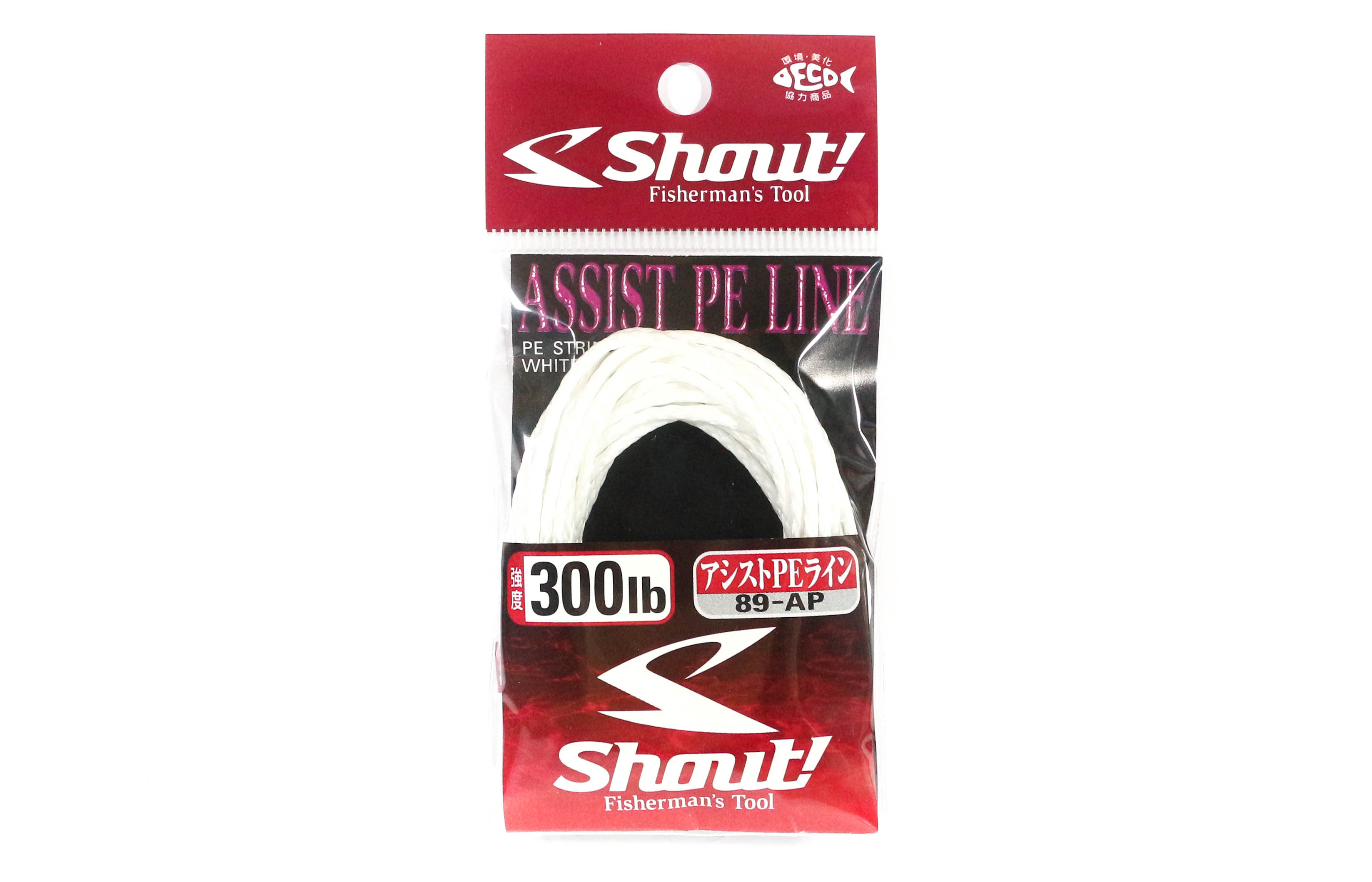 Shout 89-AP Assist P.E Line Assist Rope with Inner Core 300lb 3 meters (7198)