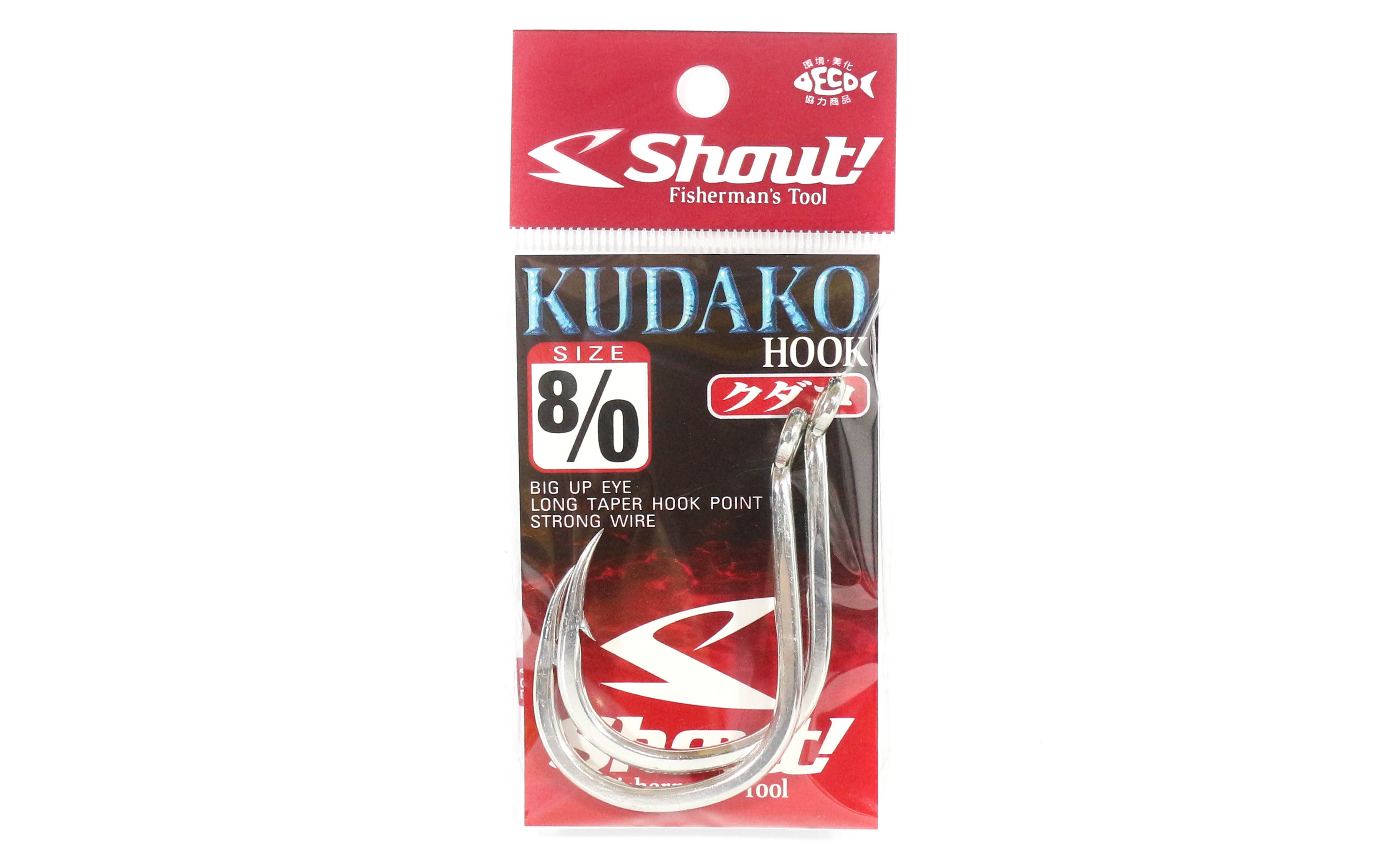 Shout 04-KH Kudako Power Jigging Single Hook Silver Size 8/0 (9976)
