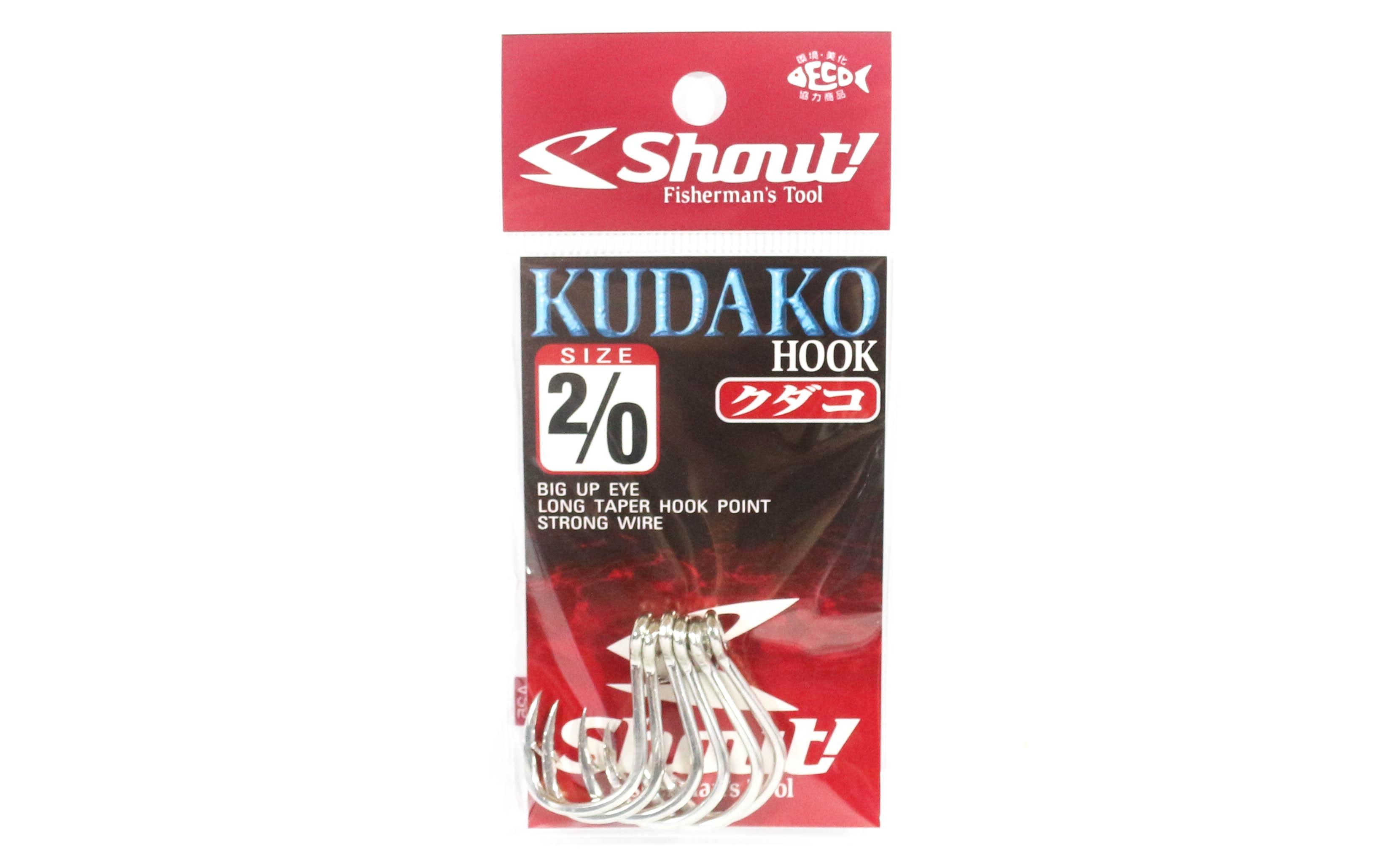 Shout 04-KH Kudako Power Jigging Single Hook Silver Size 2/0 (7208)