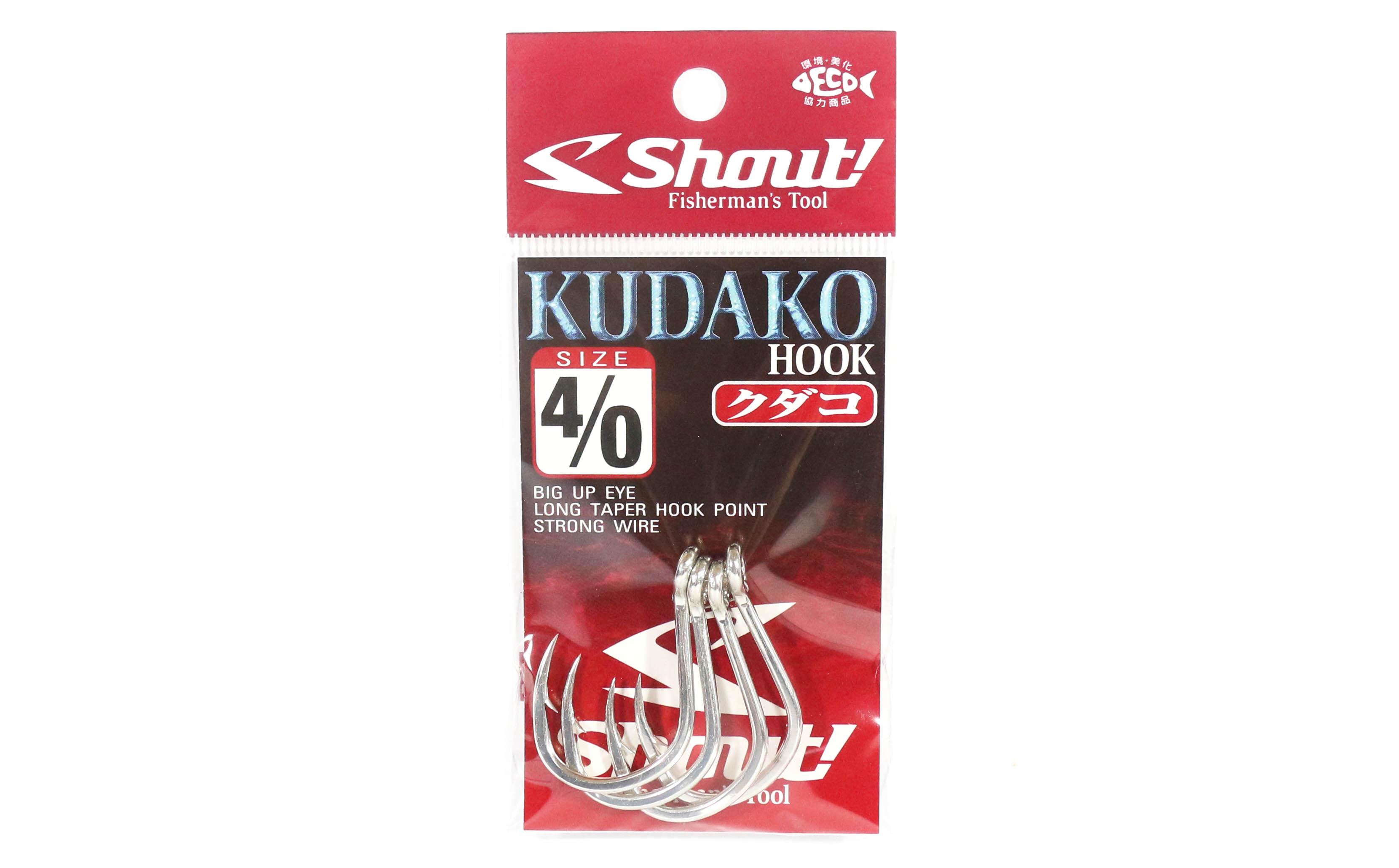 Shout 04-KH Kudako Power Jigging Single Hook Silver Size 4/0 (7406)