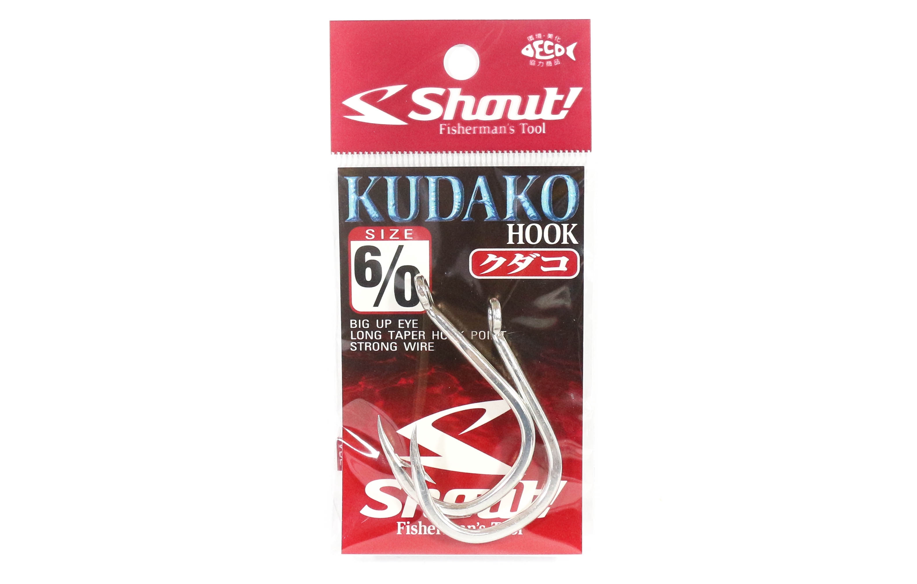 Shout 06-KH Kudako Power Jigging Single Hook Black Size 7//0 9707
