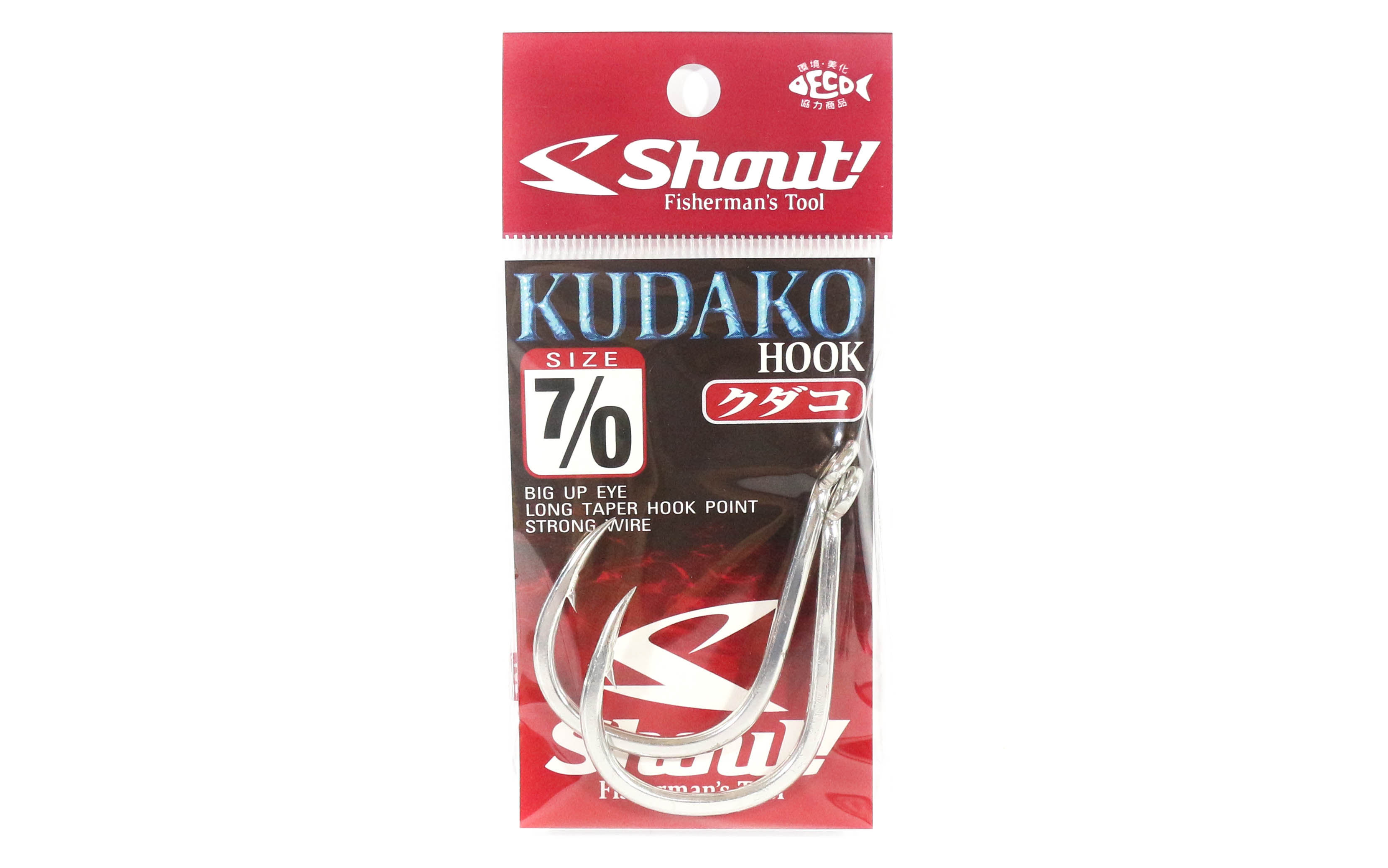 Shout 04-KH Kudako Power Jigging Single Hook Silver Size 7/0 (7703)