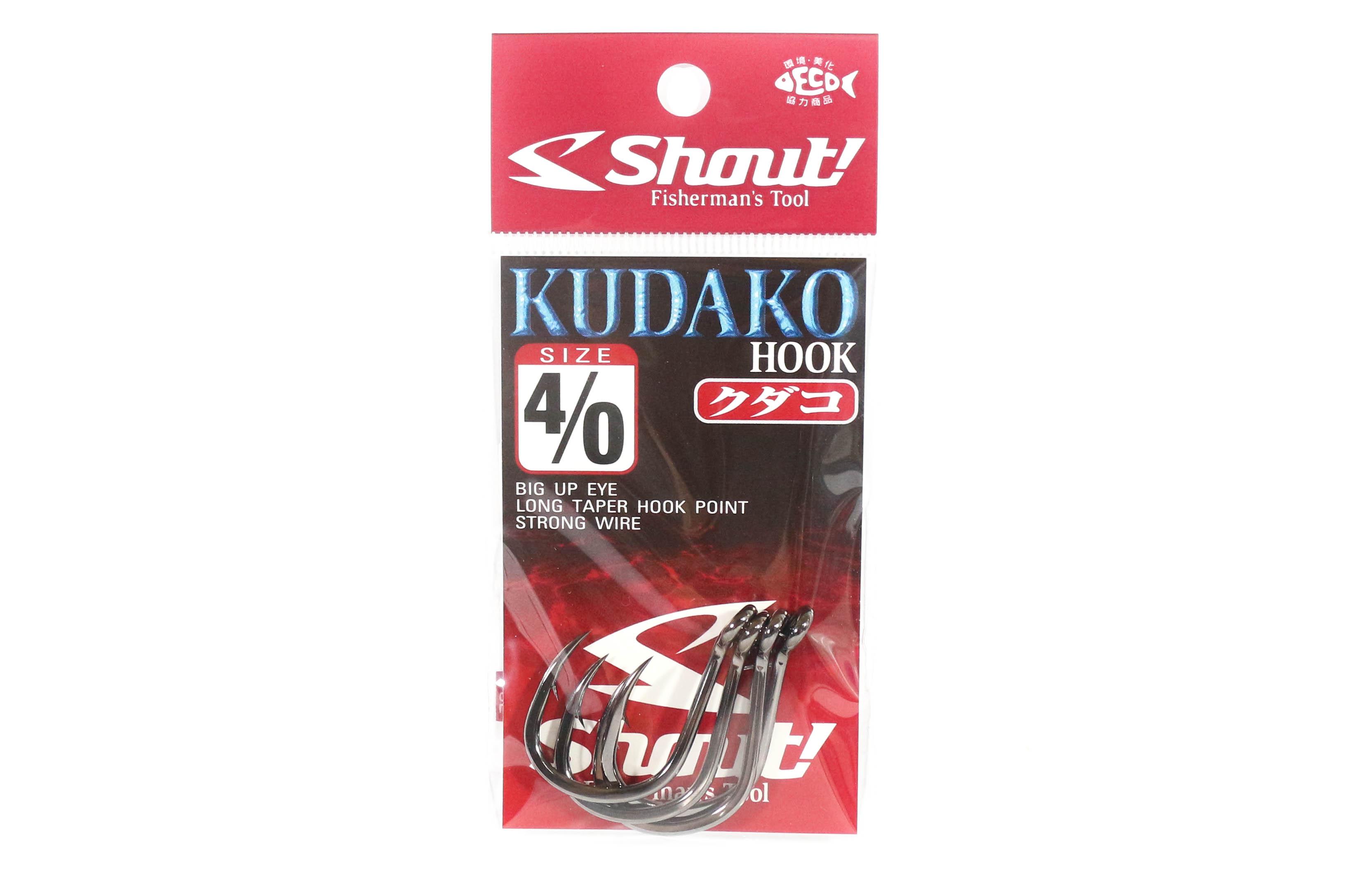 Shout 06-KH Kudako Power Jigging Single Hook Black Size 4/0 (9400)