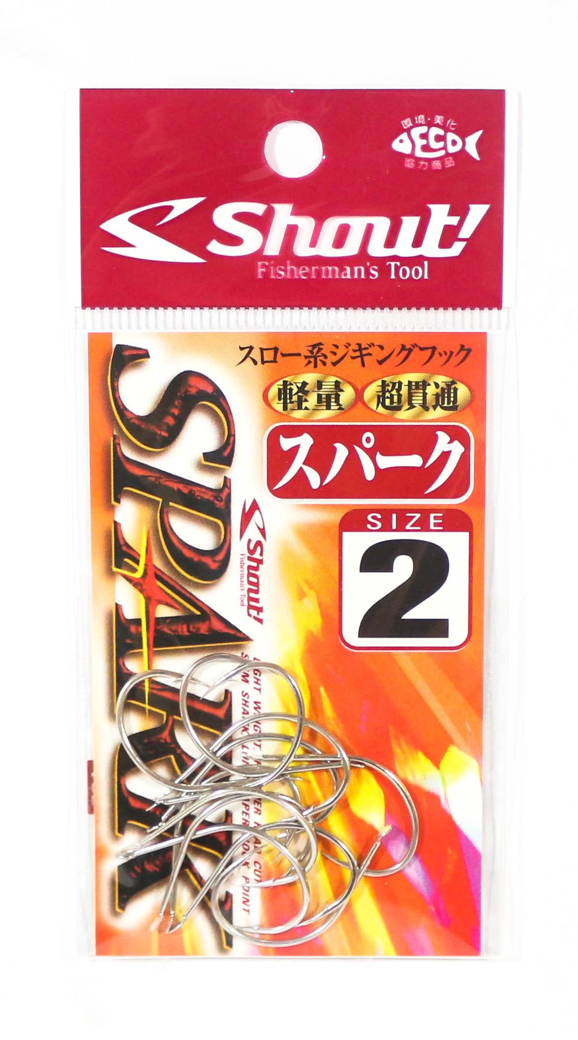 Shout 201-SP Spark Jigging Single Hook Silver Size 2 (5473)