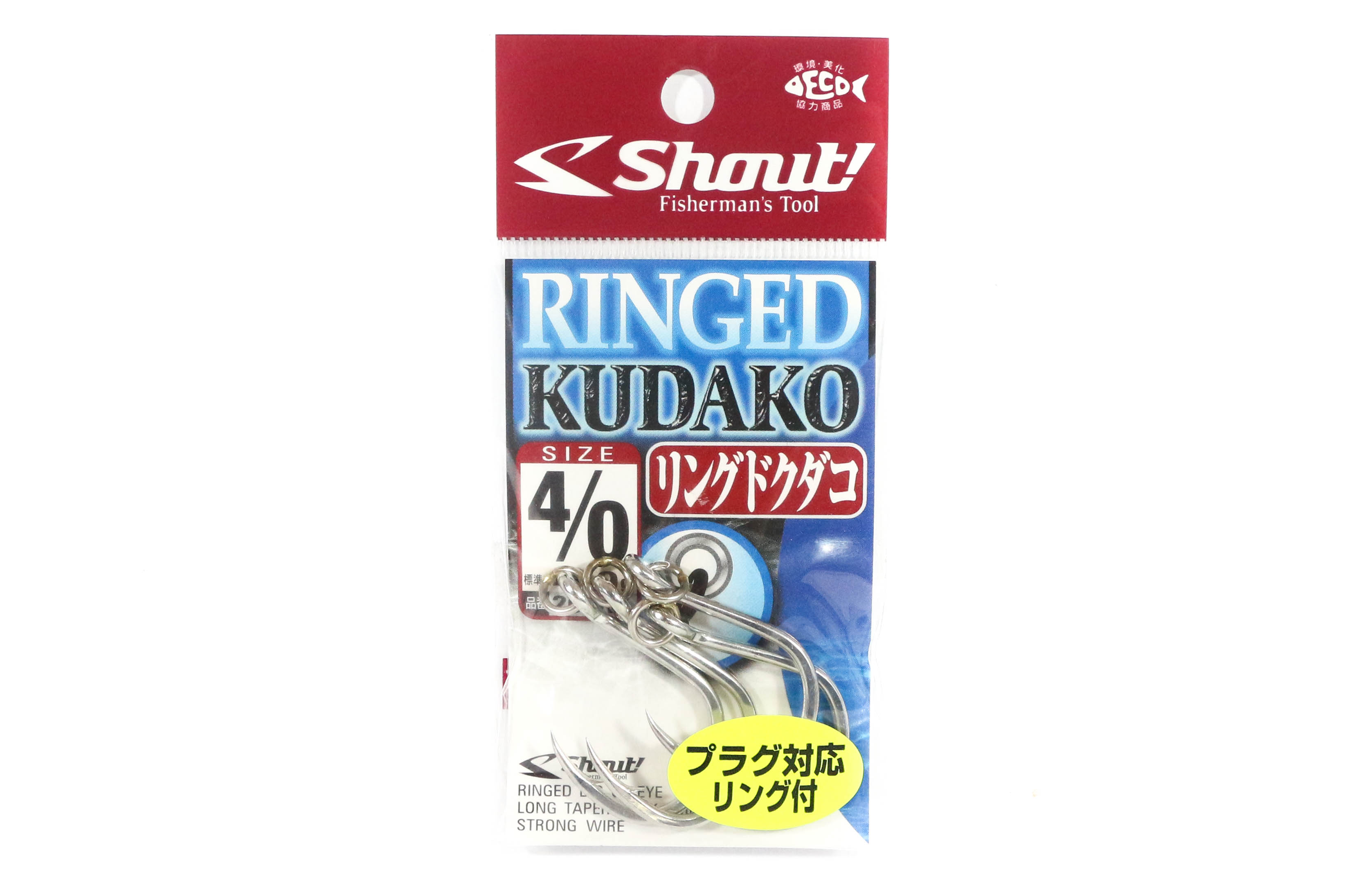 Shout 207-RK Ringed Kudako Power Jigging Single Hook Silver Size 4/0 (7858)